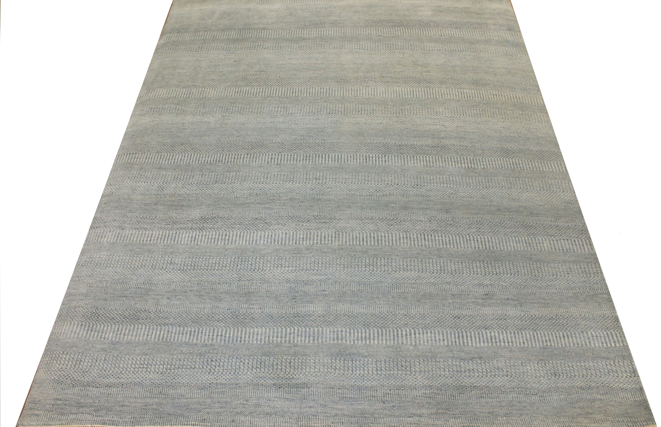 8x10 Casual Hand Knotted Wool & Viscose Area Rug - MR024072