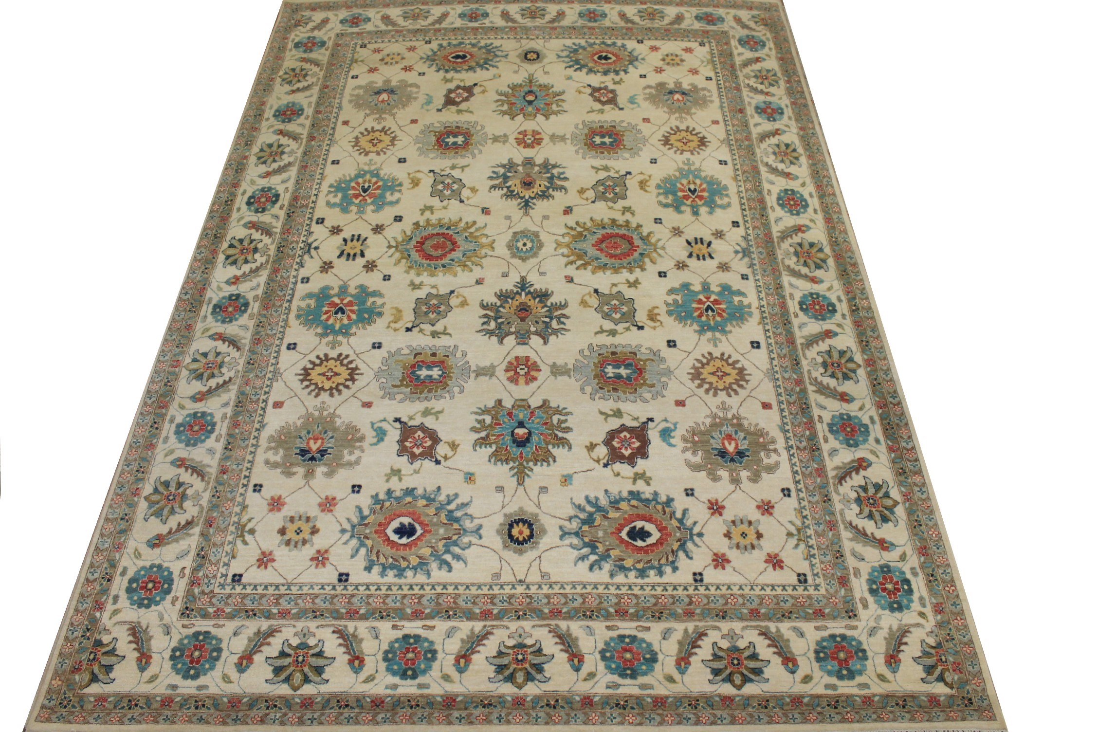 10x14 Traditional Hand Knotted Wool Area Rug - MR024146