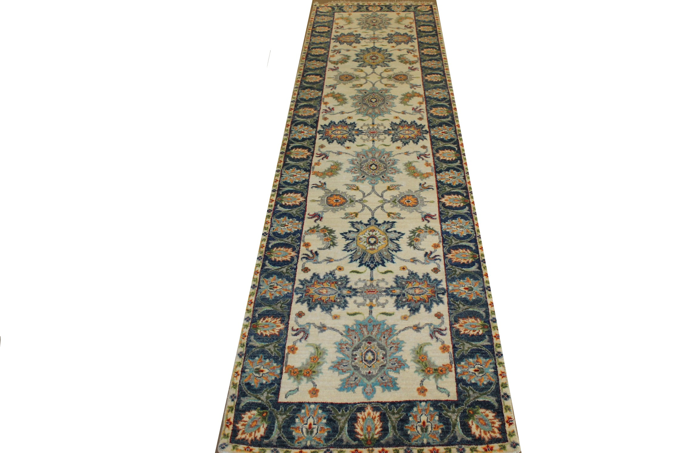 10 ft. Runner Traditional Hand Knotted Wool Area Rug - MR024166