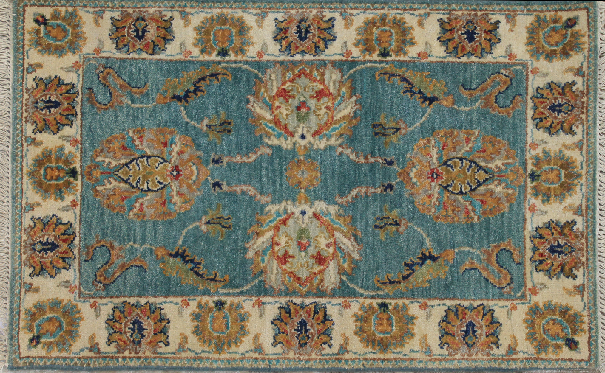 2X3 Traditional Hand Knotted Wool Area Rug - MR024197