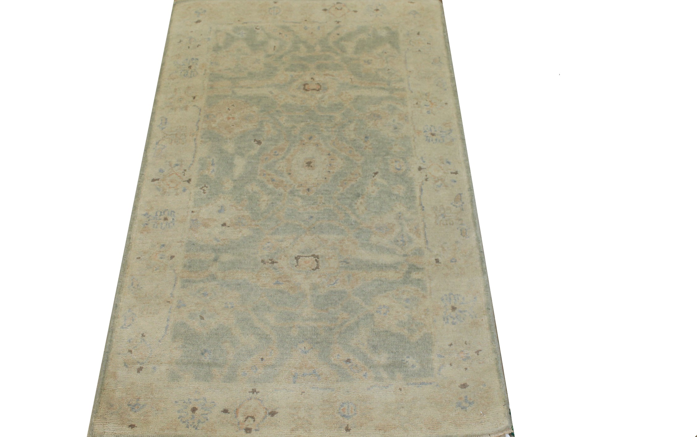 3x5 Oushak Hand Knotted Wool Area Rug - MR024227