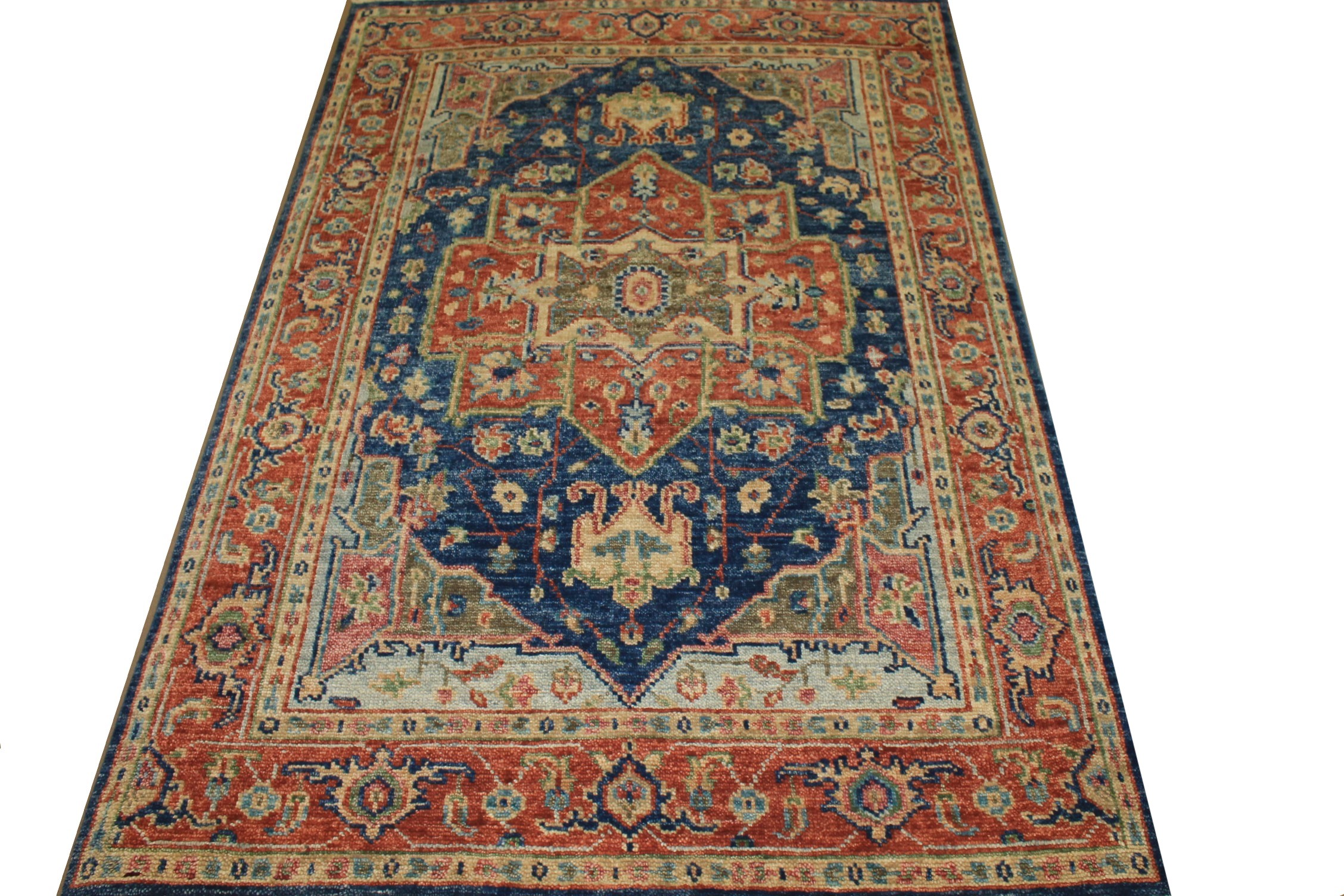 6x9 Oushak Hand Knotted Wool Area Rug - MR024239