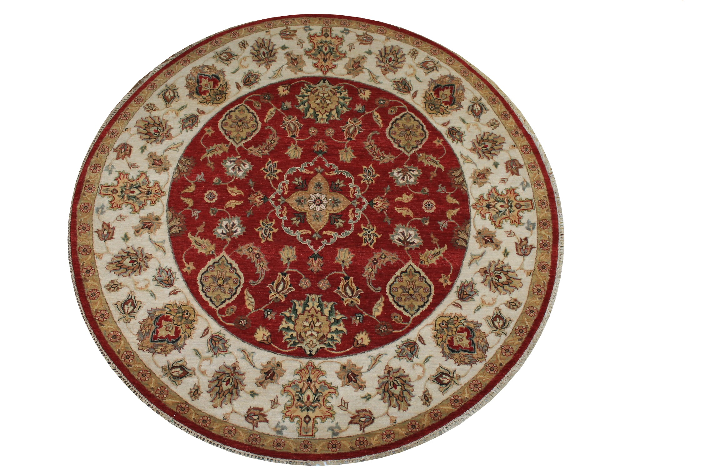 6 ft. - 7 ft. Round & Square Traditional Hand Knotted Wool Area Rug - MR024251