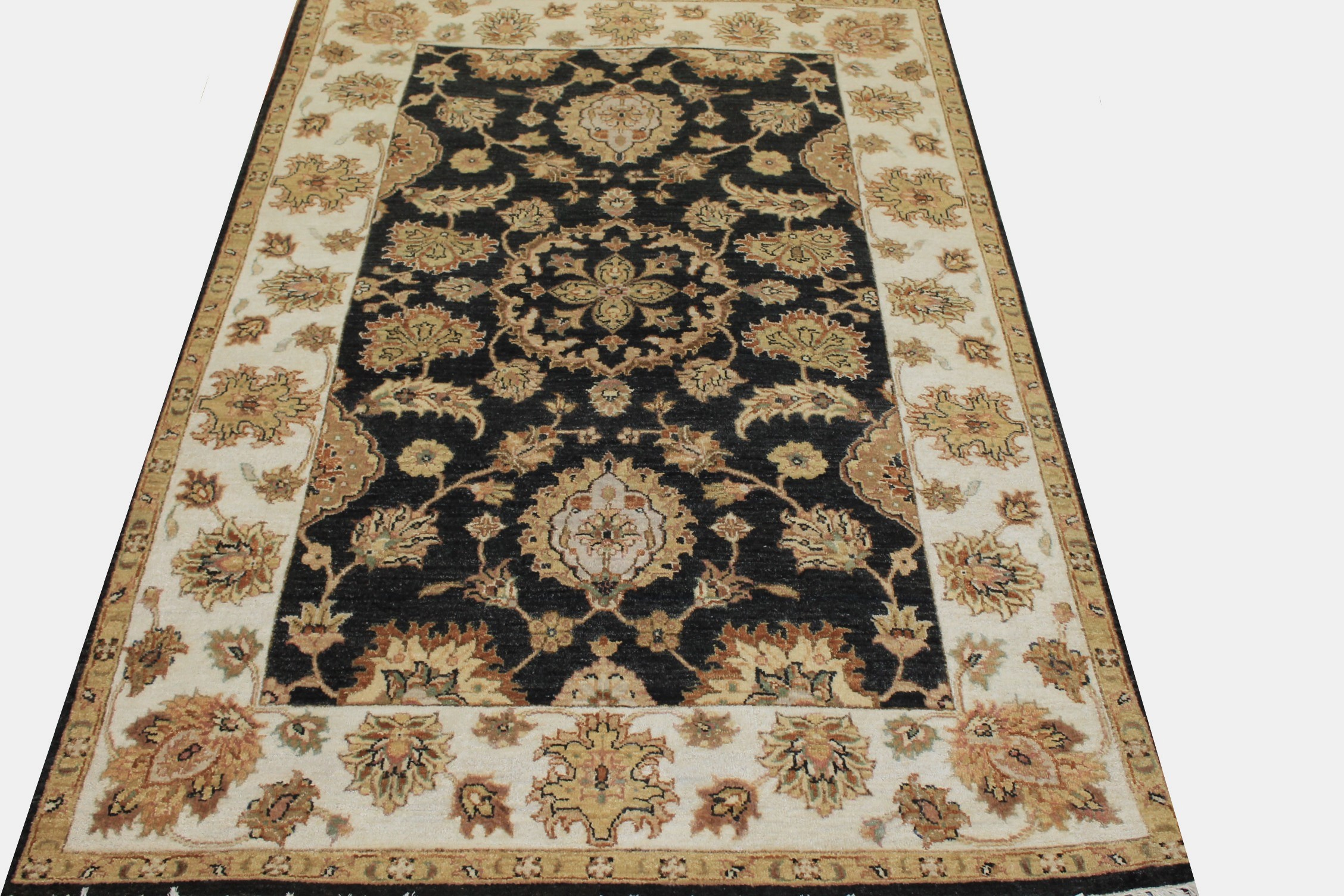 4x6 Traditional Hand Knotted Wool Area Rug - MR024255