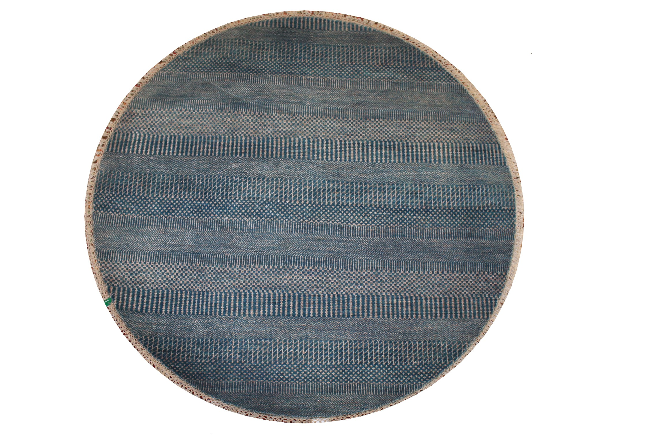 5 ft. Round & Square Casual Hand Knotted Wool Area Rug - MR024259