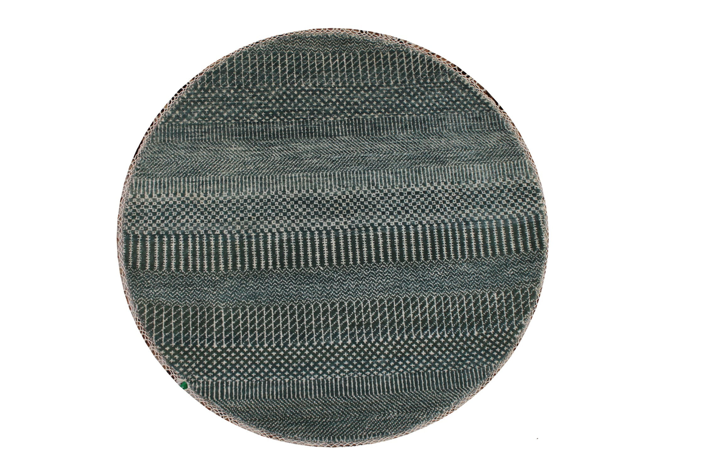 3 ft. Round & Square Casual Hand Knotted Wool Area Rug - MR024261