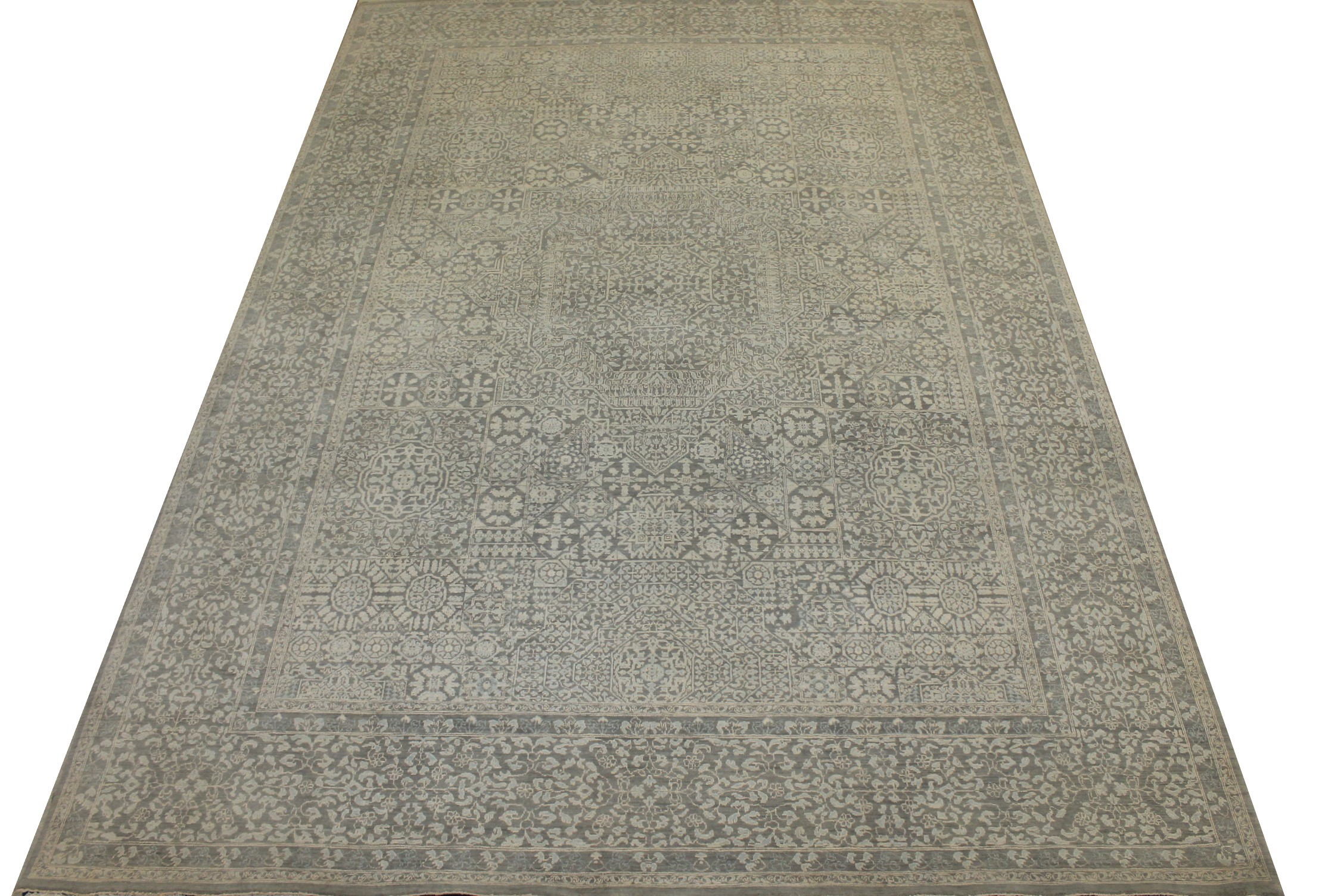 10x14 Antique Revival Hand Knotted Wool Area Rug - MR024268