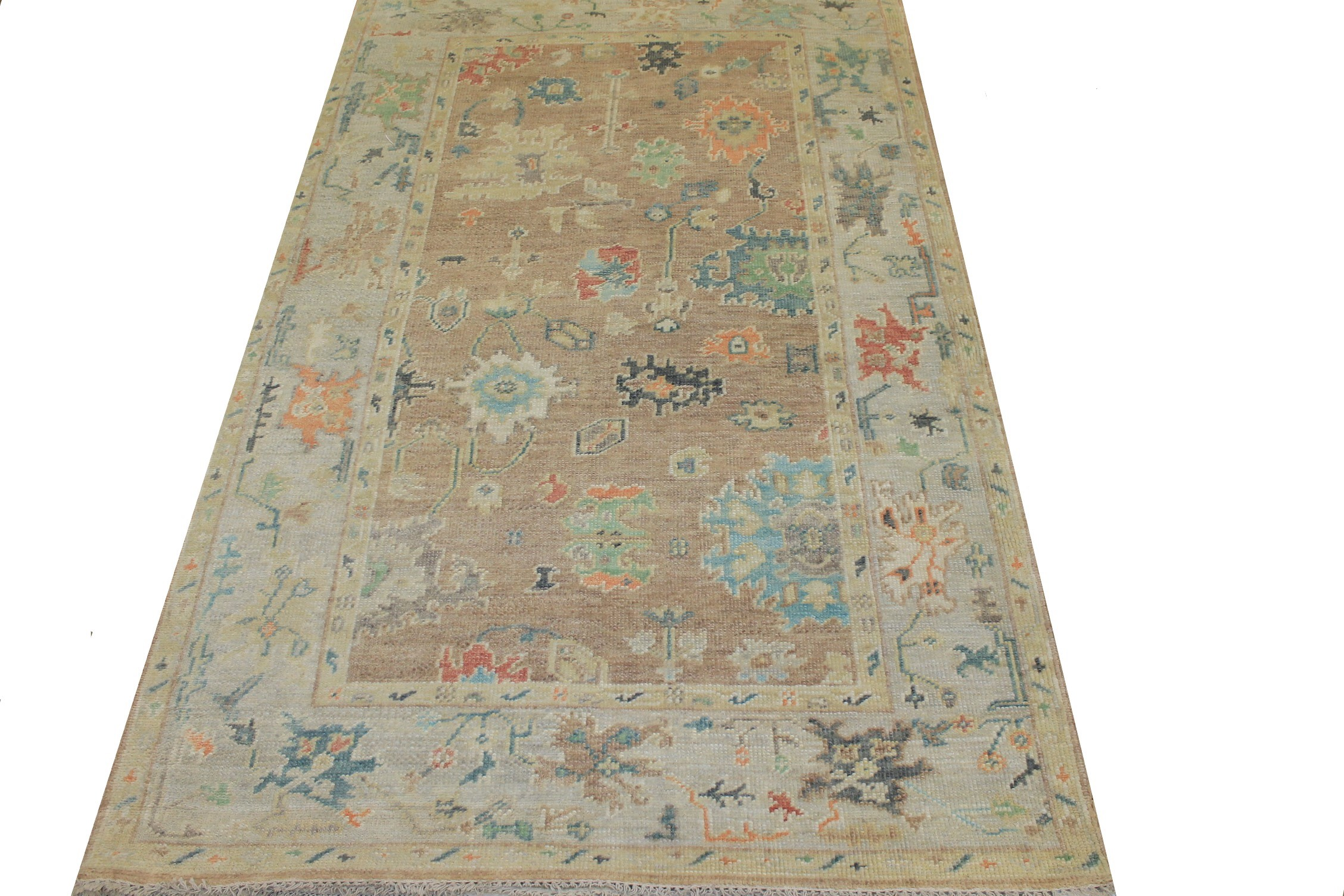 6x9 Oushak Hand Knotted Wool Area Rug - MR024296