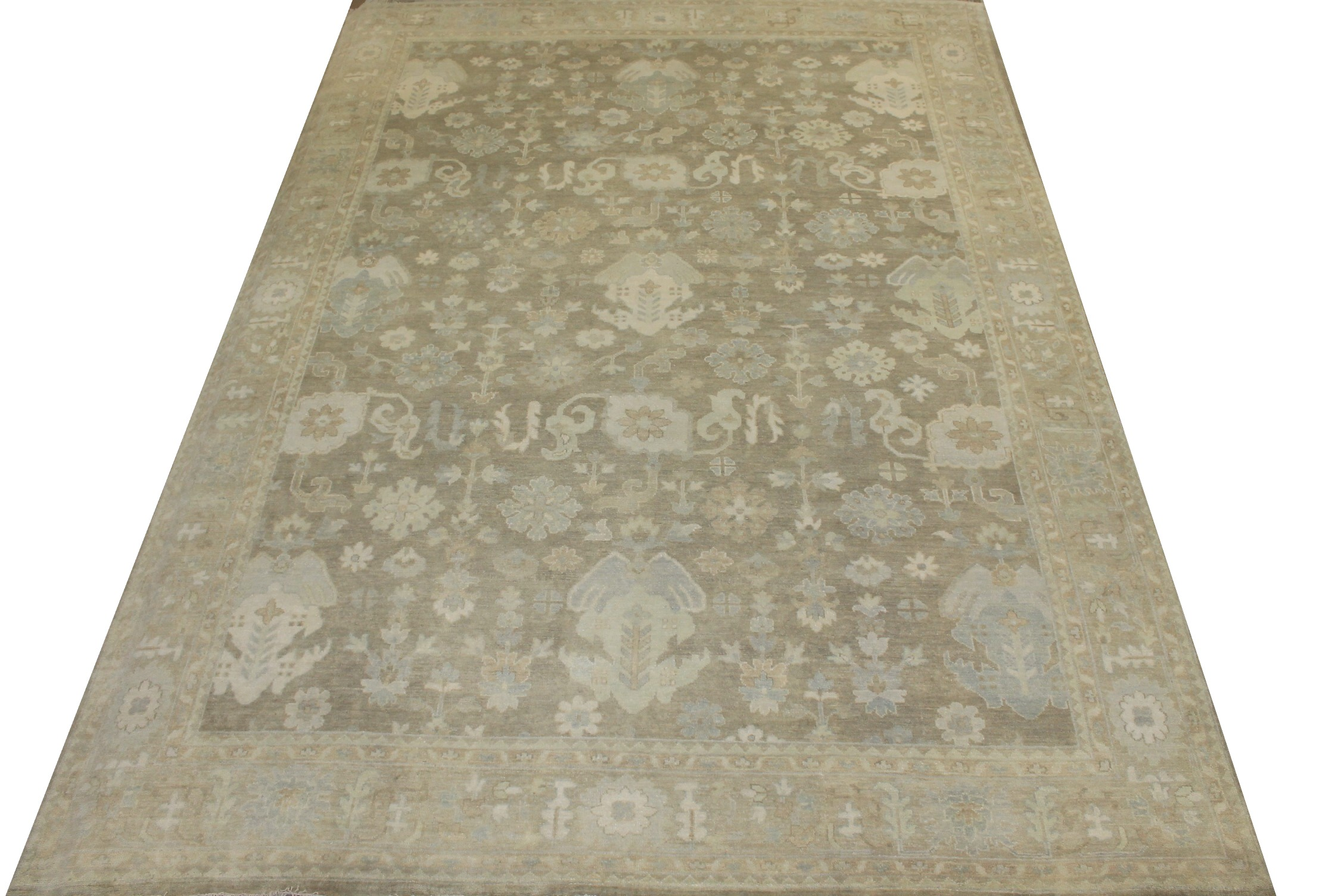 10x14 Oushak Hand Knotted Wool Area Rug - MR024300