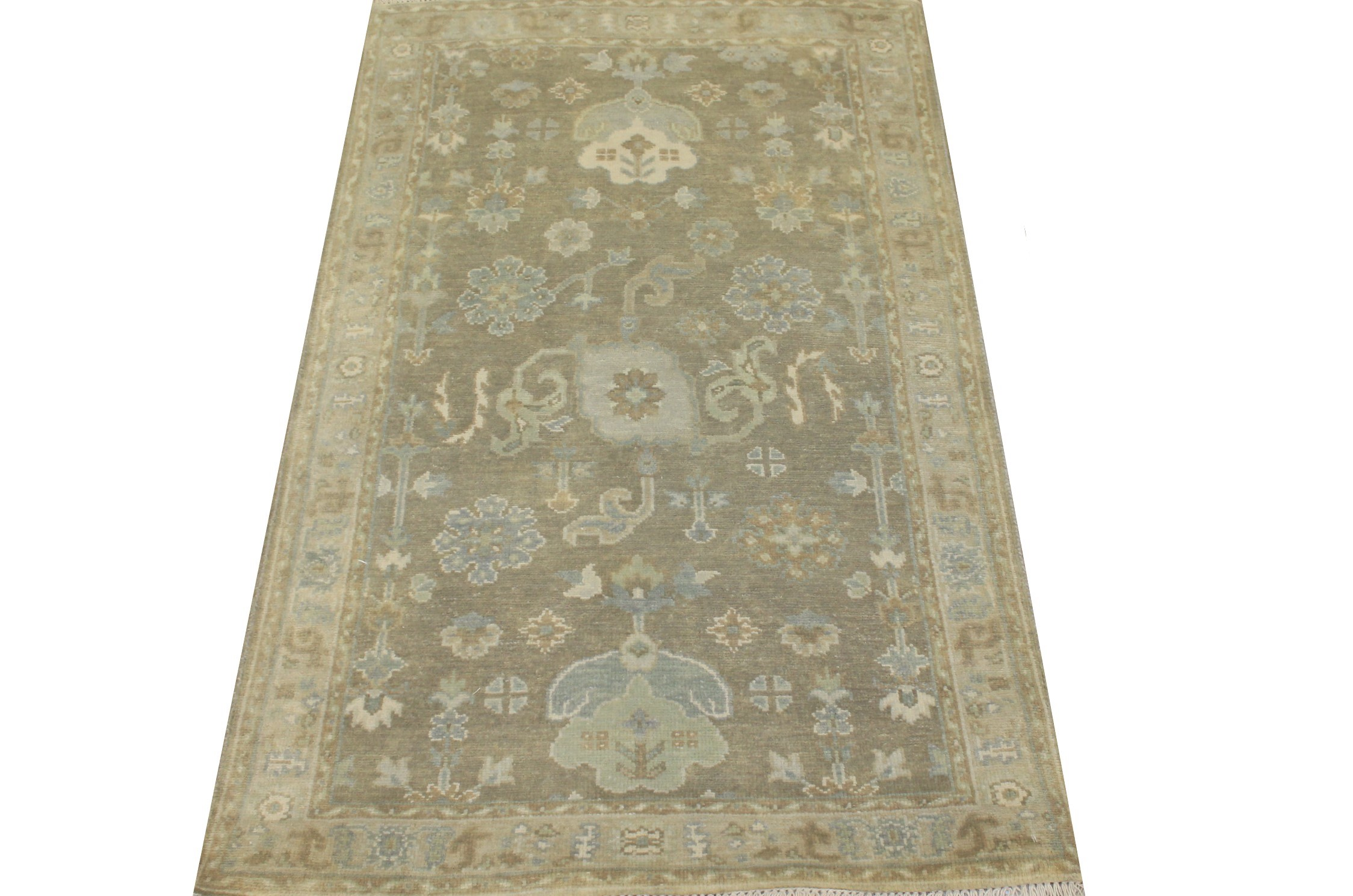 3x5 Oushak Hand Knotted Wool Area Rug - MR024304