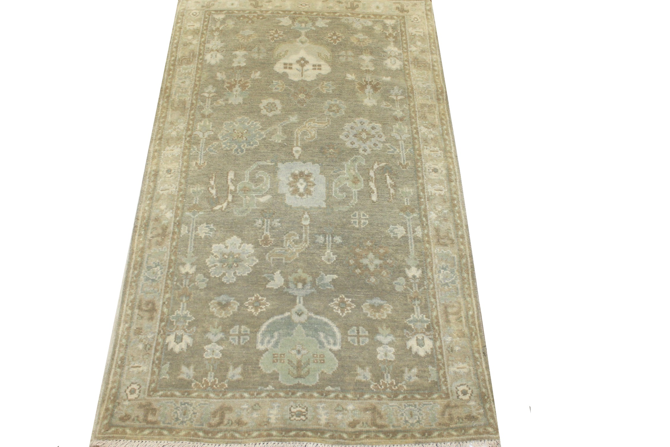 3x5 Oushak Hand Knotted Wool Area Rug - MR024305