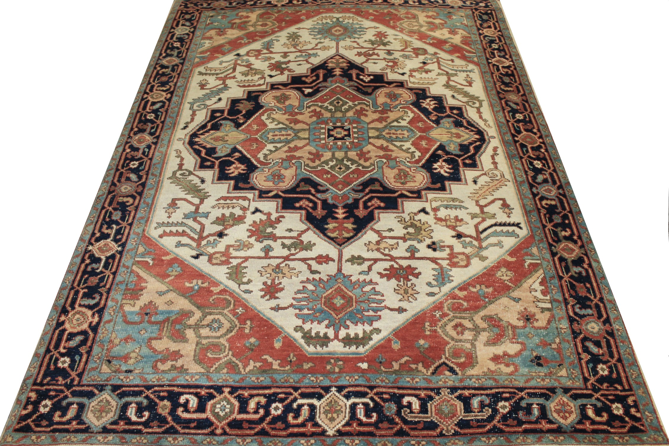 9x12 Oushak Hand Knotted Wool Area Rug - MR024307