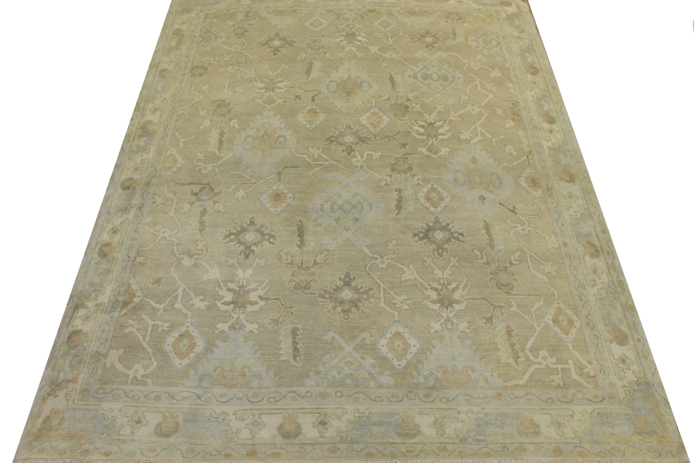 8x10 Oushak Hand Knotted Wool Area Rug - MR024319