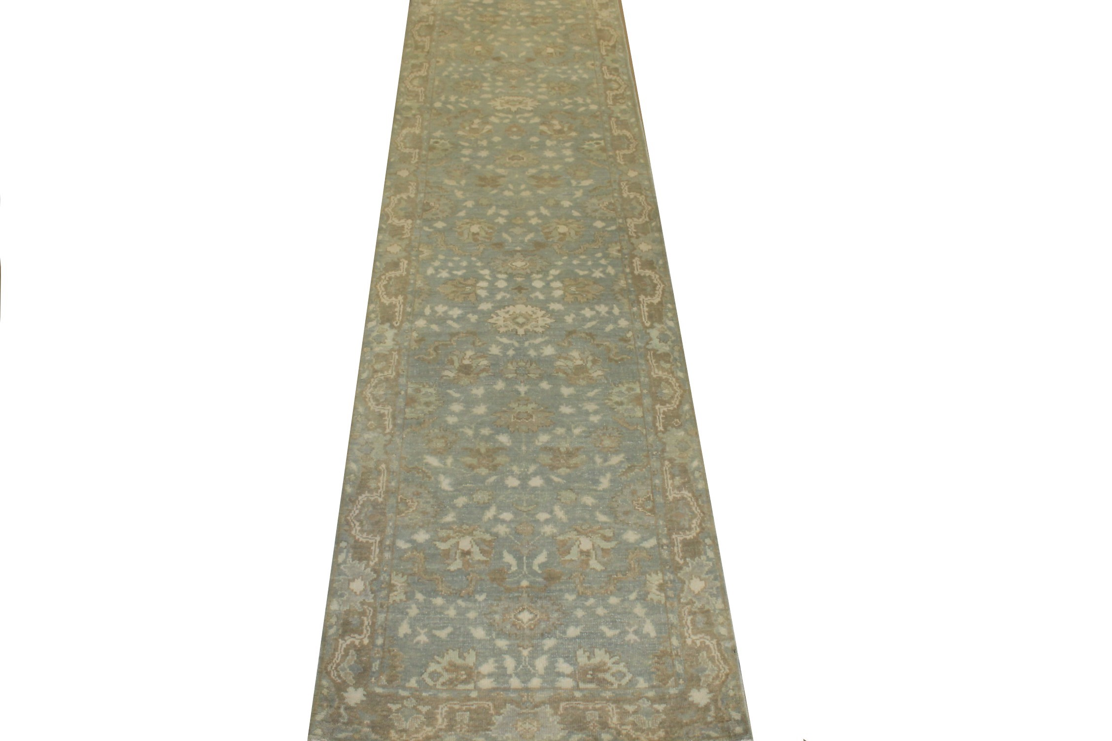12 ft. Runner Oushak Hand Knotted Wool Area Rug - MR024322