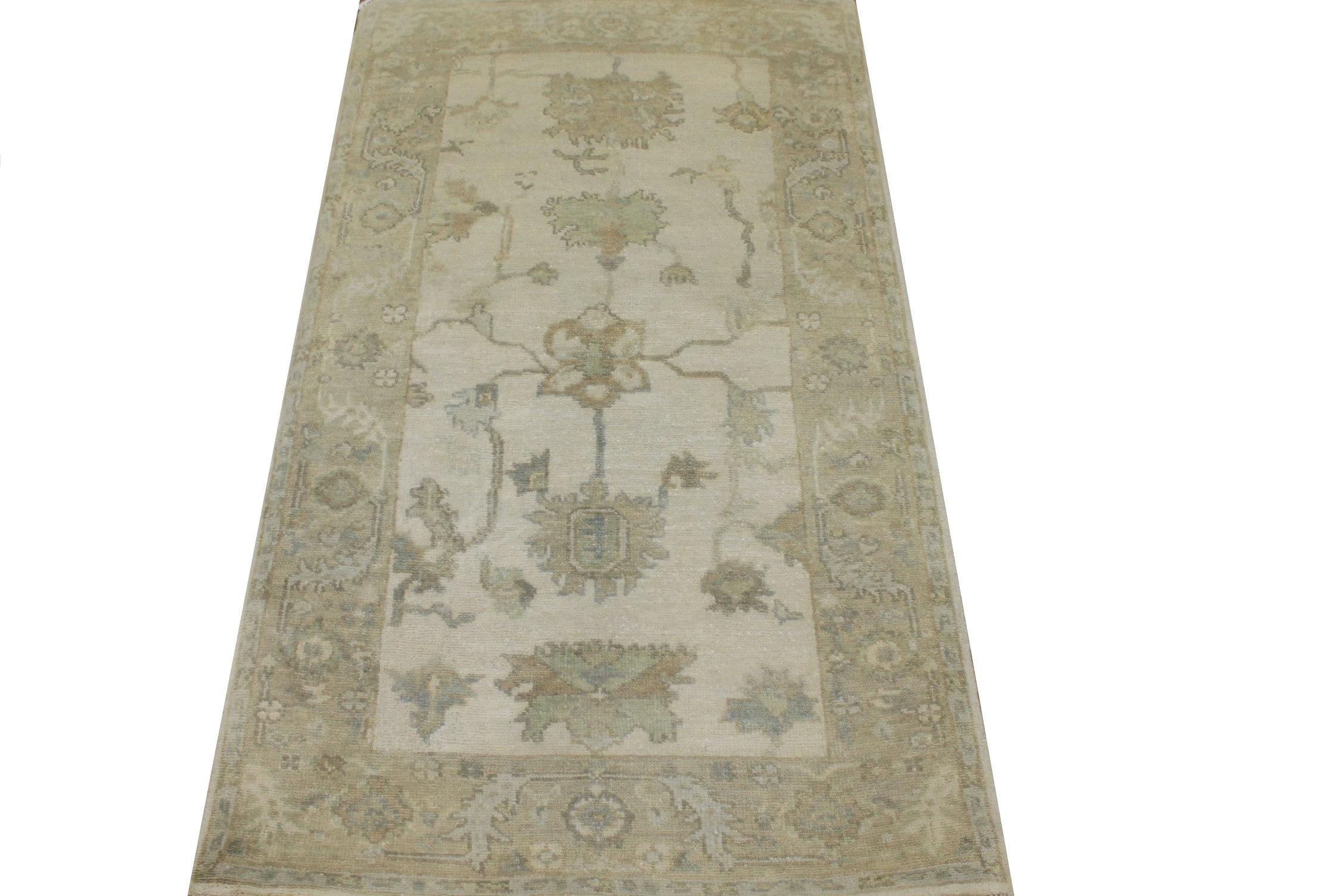 3x5 Oushak Hand Knotted Wool Area Rug - MR024326