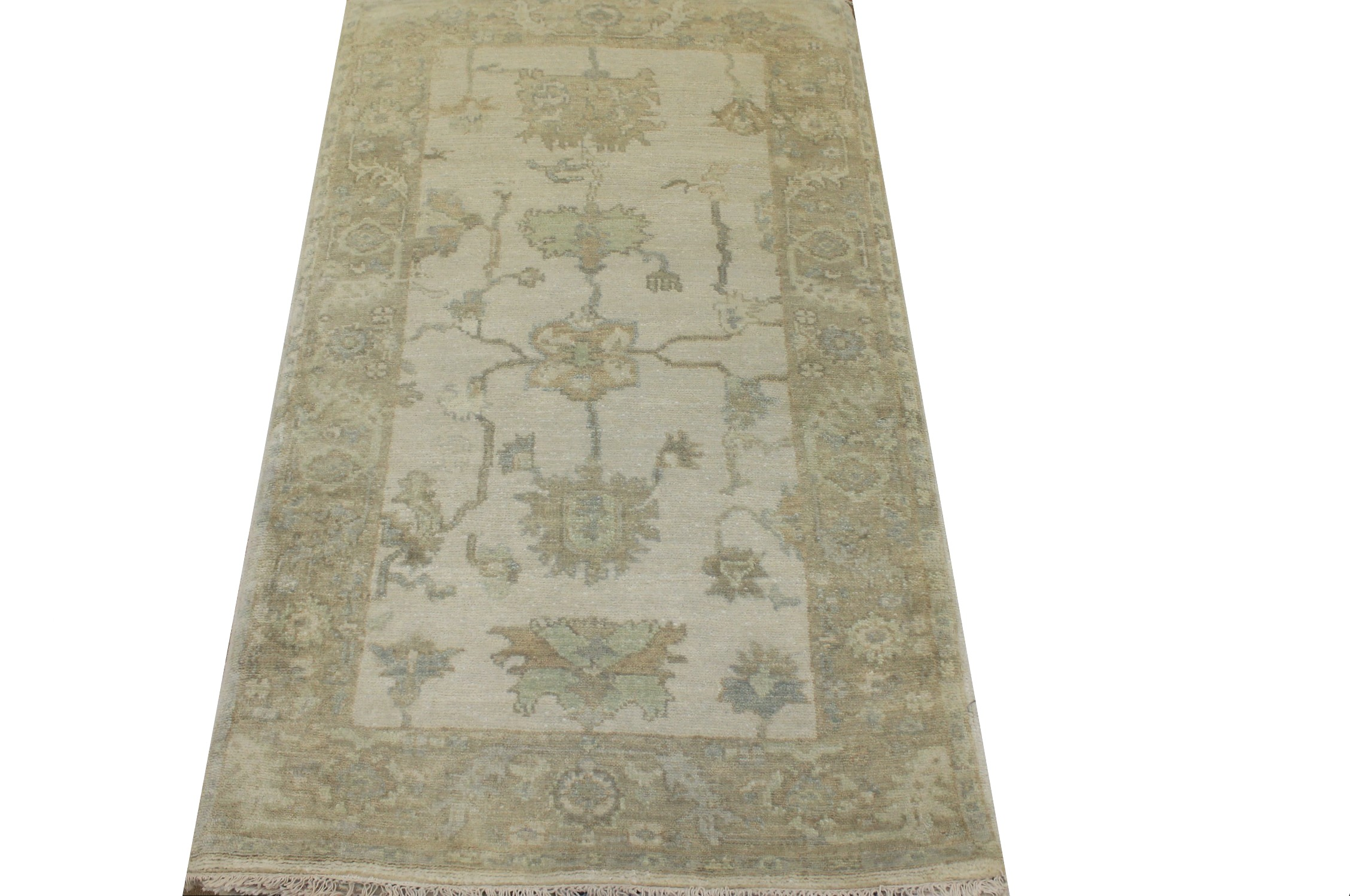 3x5 Oushak Hand Knotted Wool Area Rug - MR024327