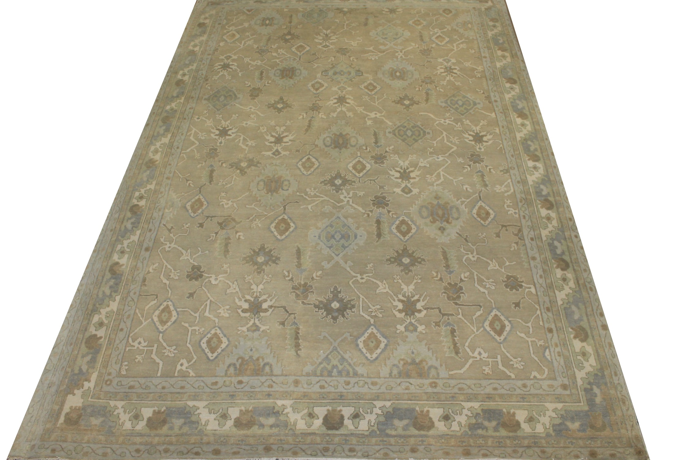 10x14 Oushak Hand Knotted Wool Area Rug - MR024330