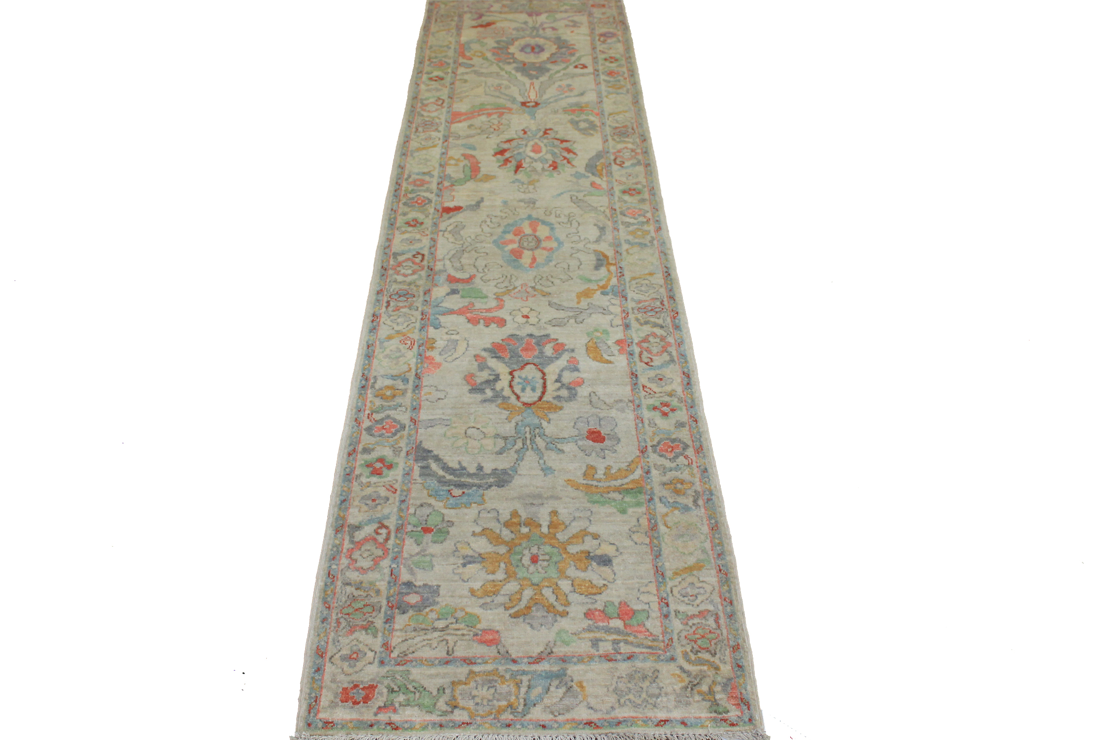 10 ft. Runner Oushak Hand Knotted Wool Area Rug - MR024362