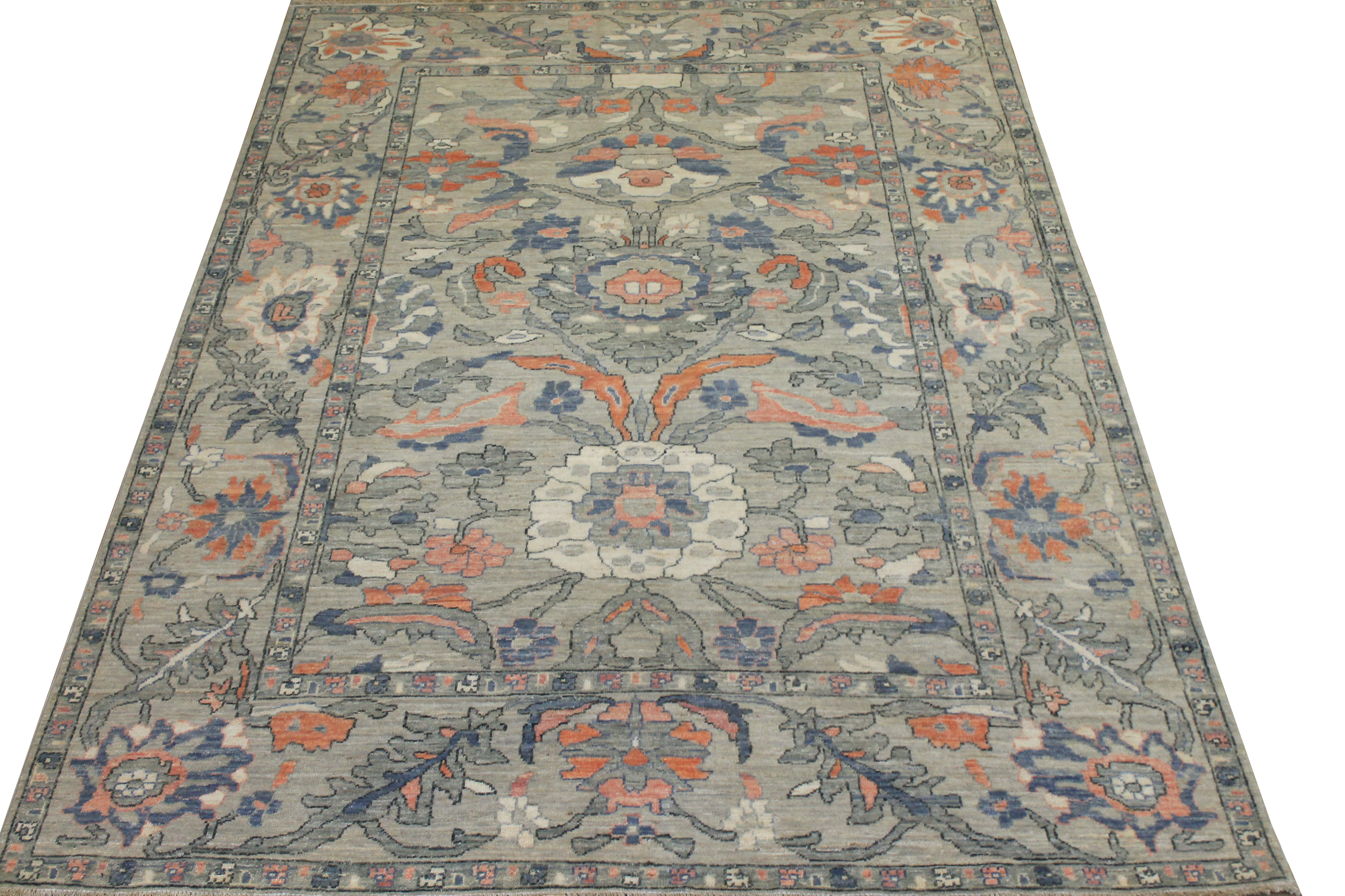 6x9 Oushak Hand Knotted Wool Area Rug - MR024375