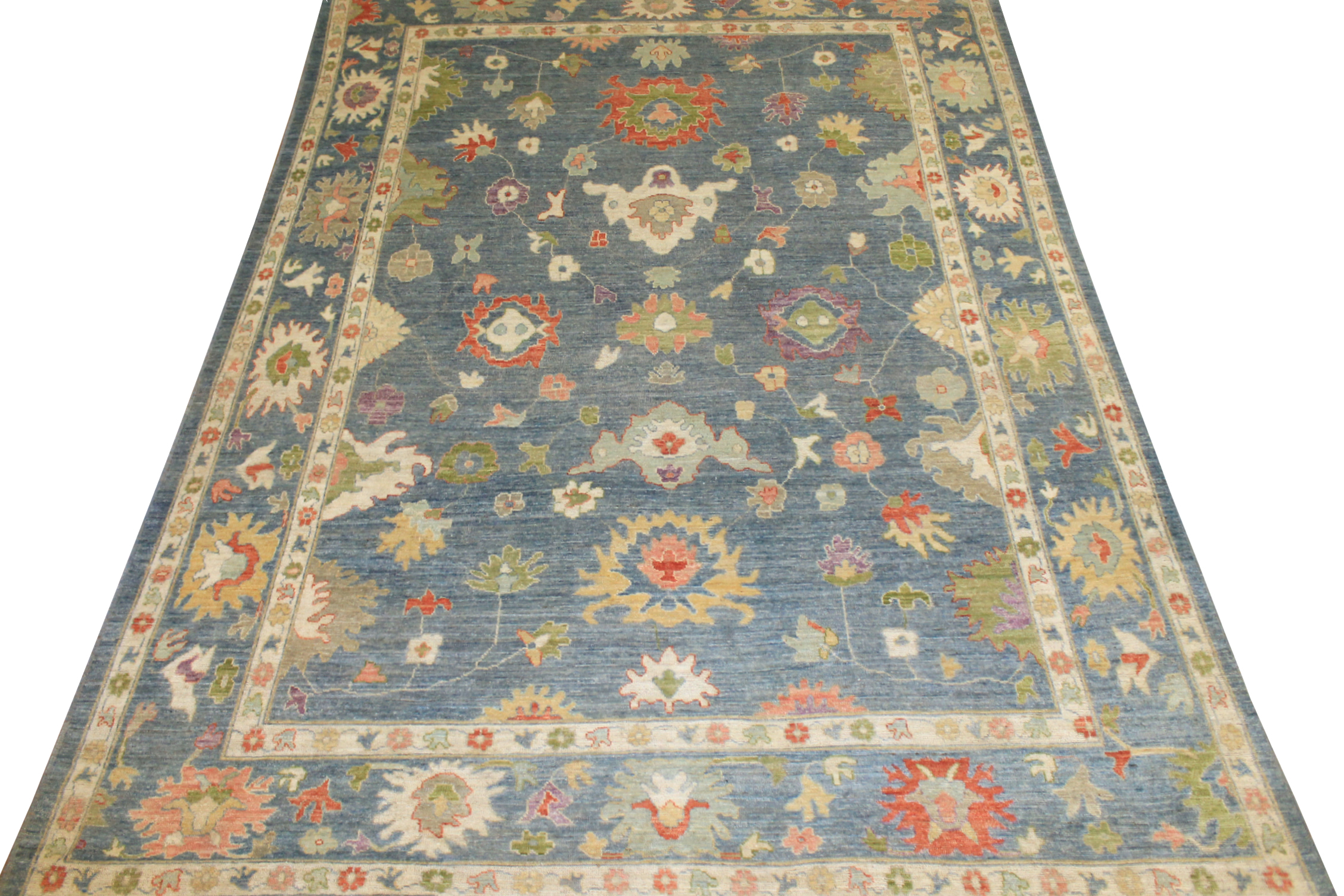 10x14 Oushak Hand Knotted Wool Area Rug - MR024377