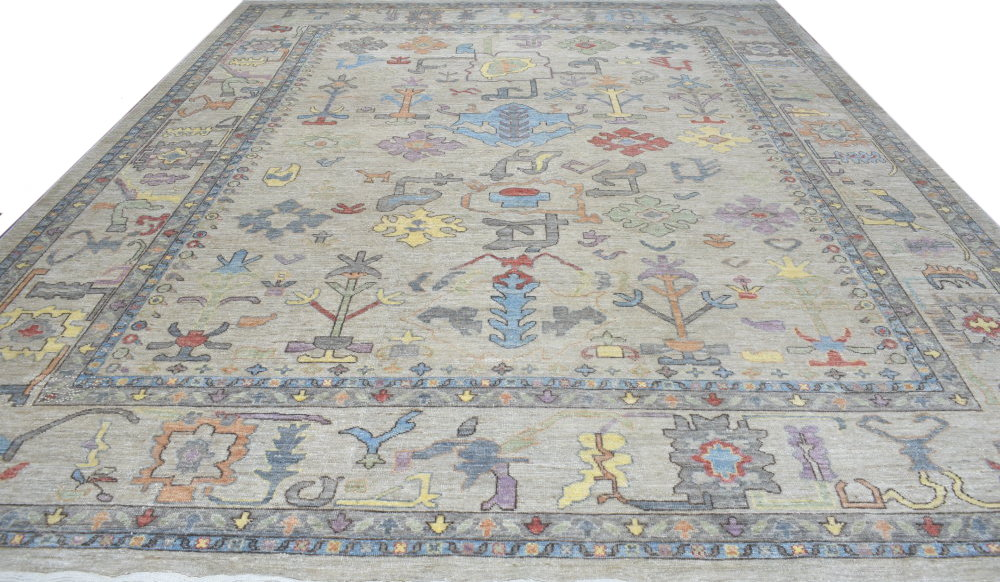OVERSIZE Oushak Hand Knotted Wool Area Rug - MR024384