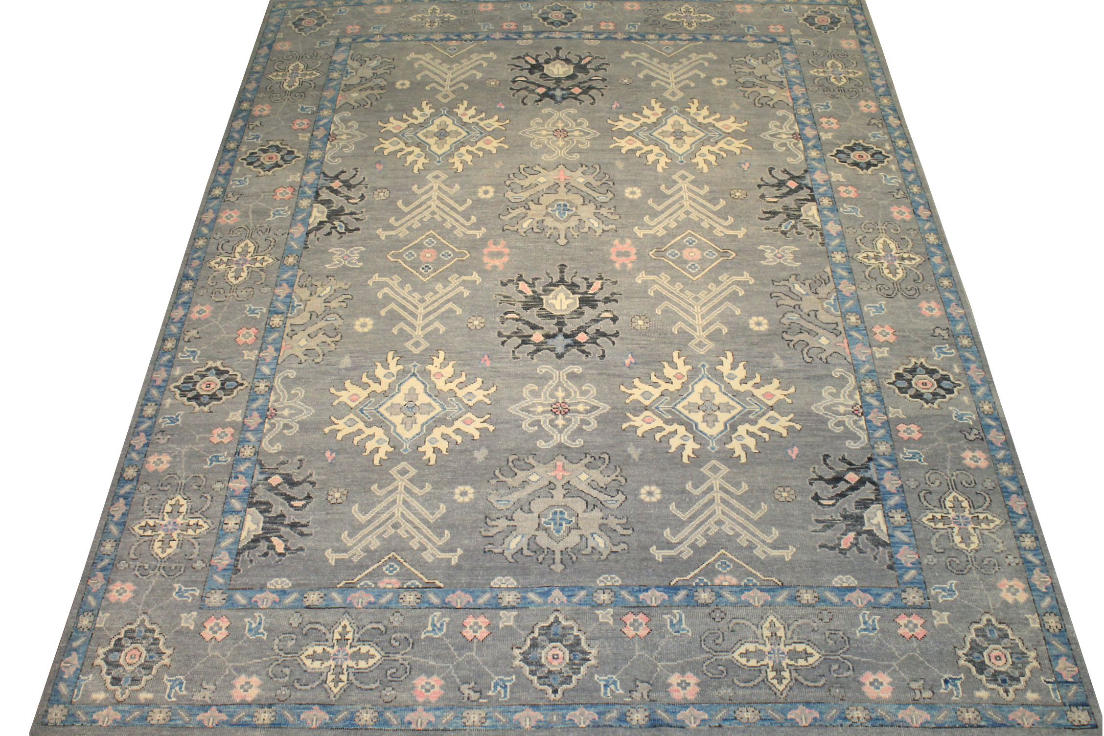 9x12 Oushak Hand Knotted Wool Area Rug - MR024397