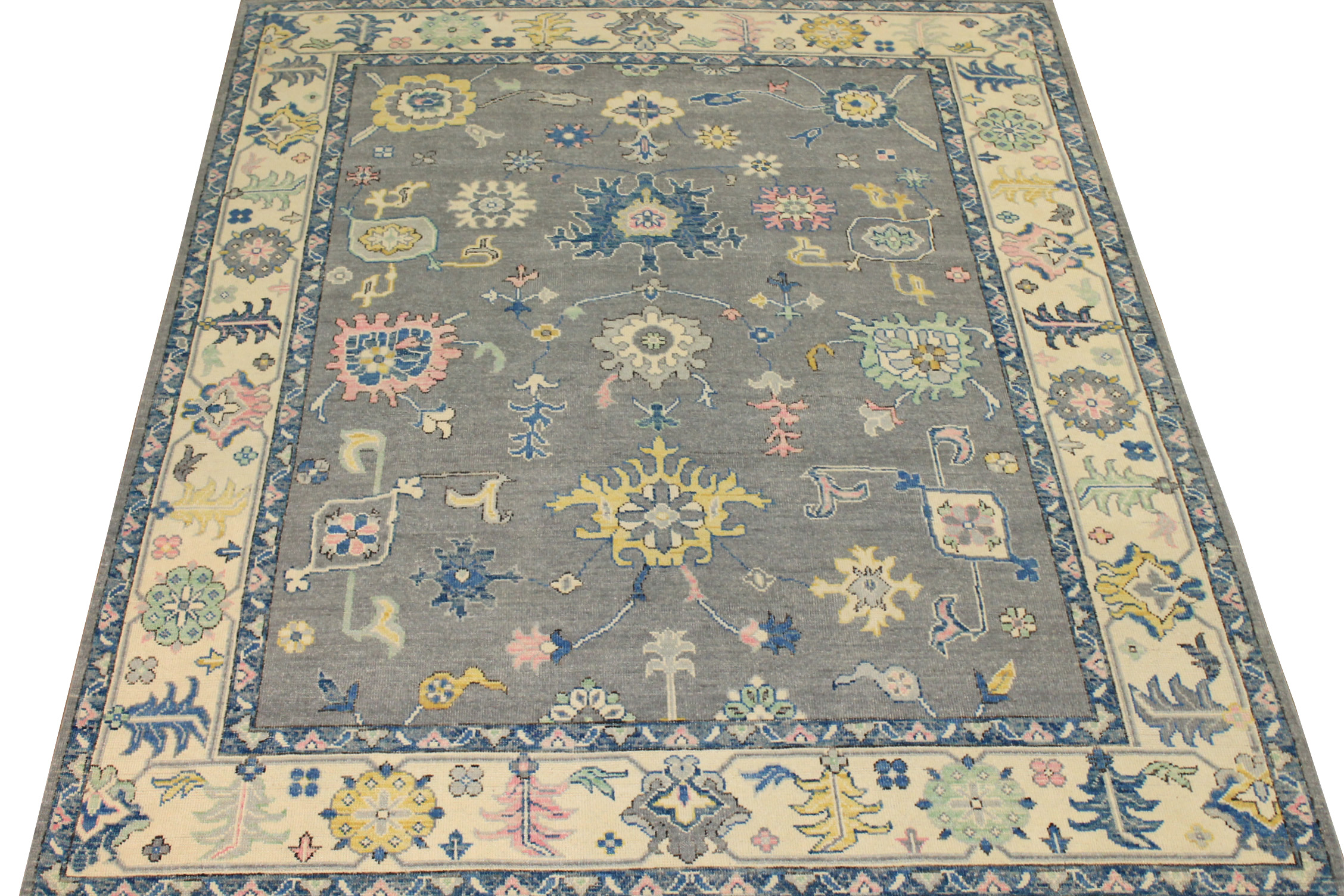8x10 Oushak Hand Knotted Wool Area Rug - MR024404