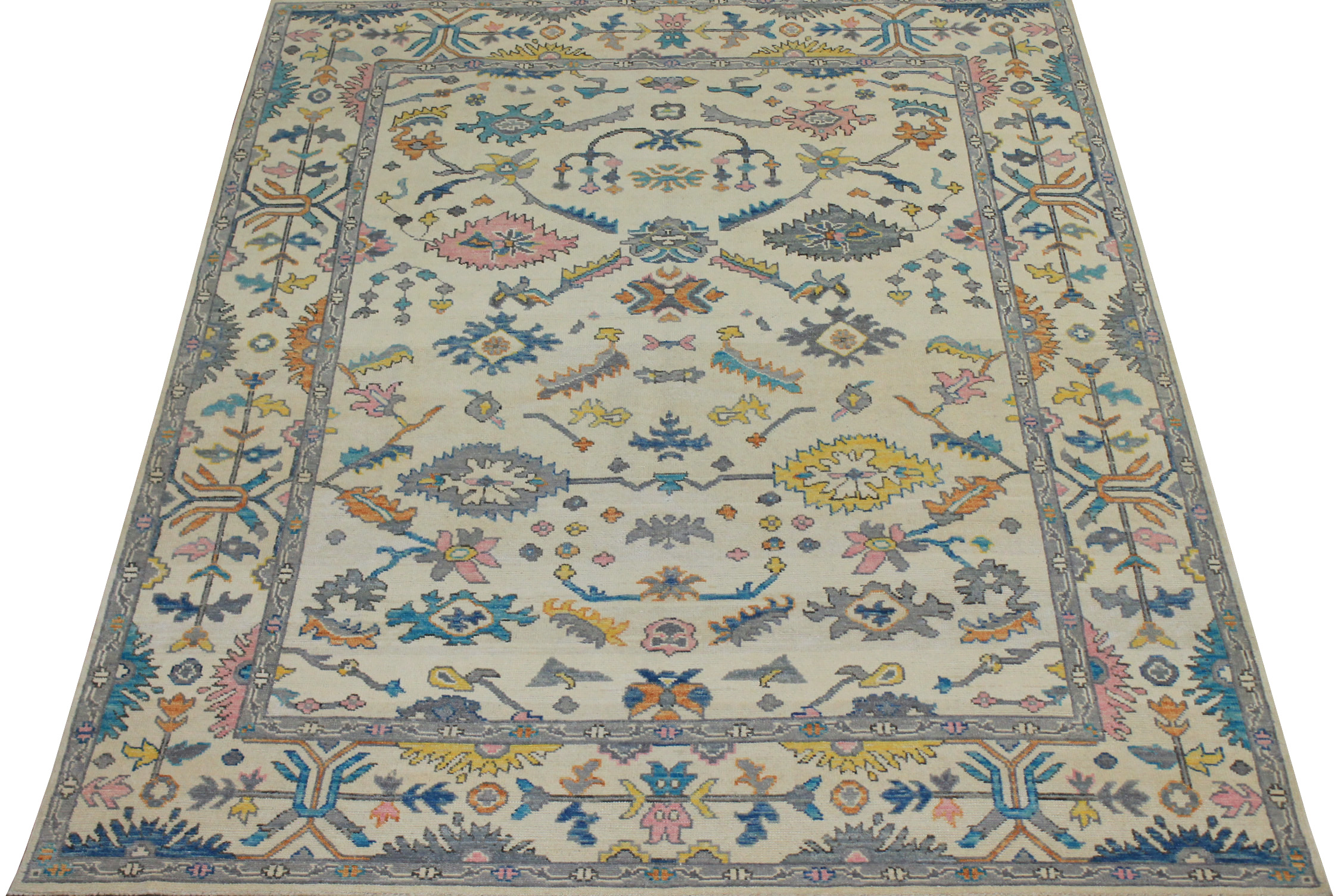 8x10 Oushak Hand Knotted Wool Area Rug - MR024408