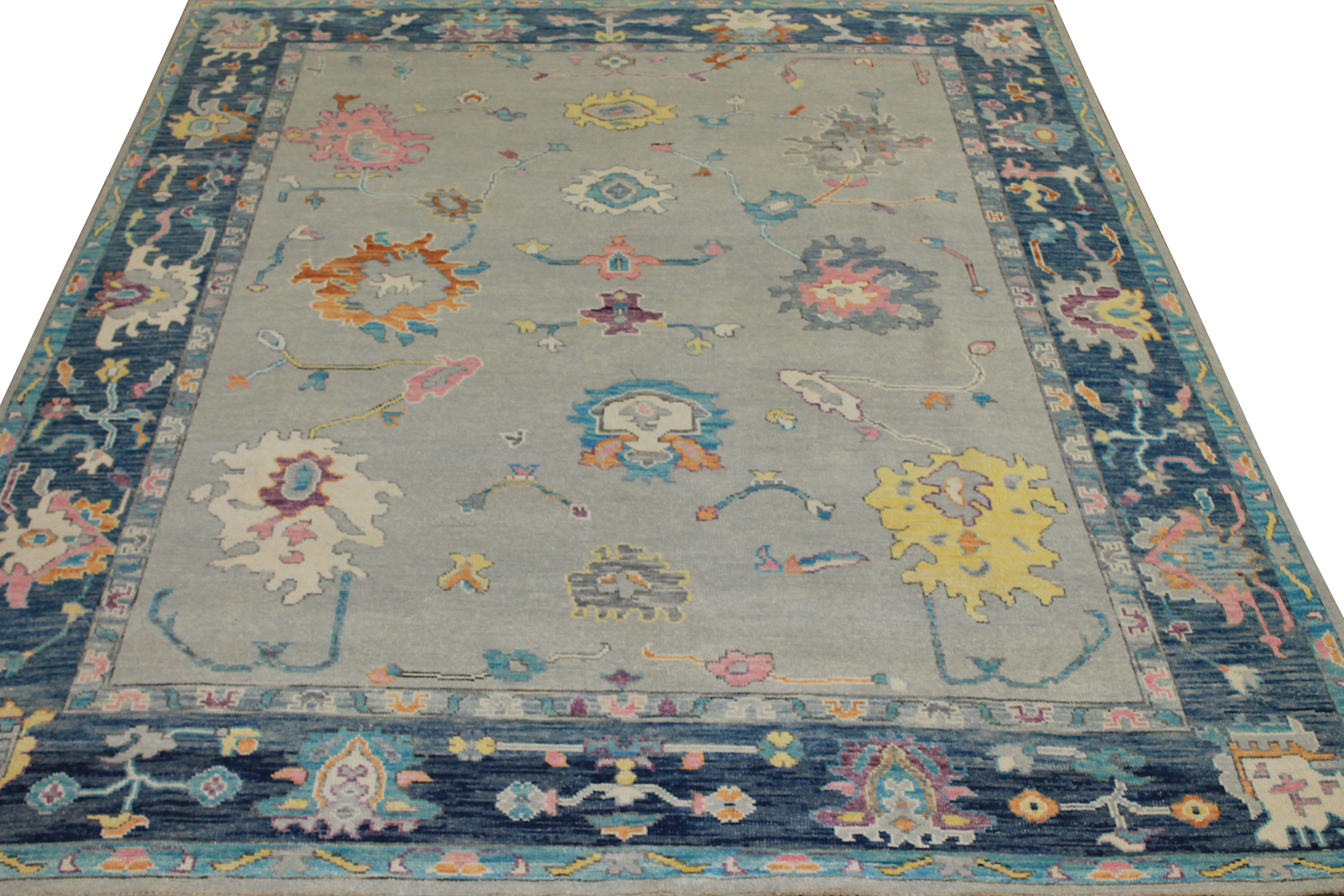 8x10 Oushak Hand Knotted Wool Area Rug - MR024410