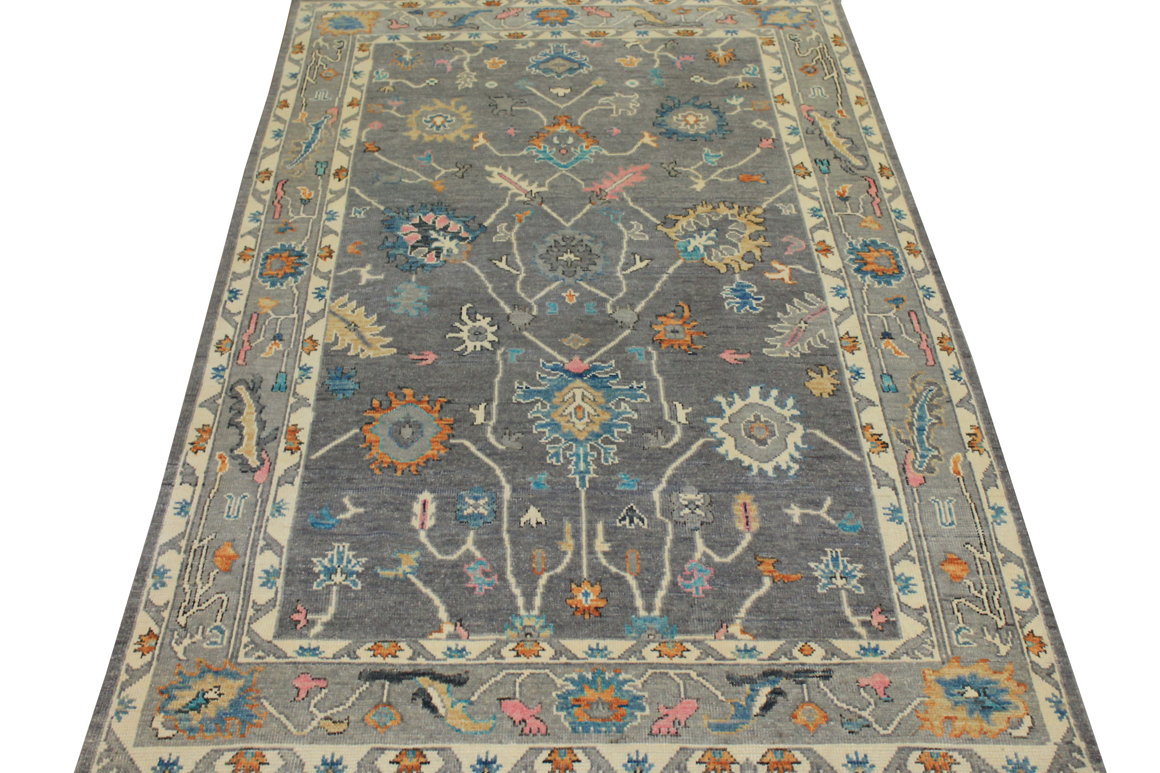 6x9 Oushak Hand Knotted Wool Area Rug - MR024412
