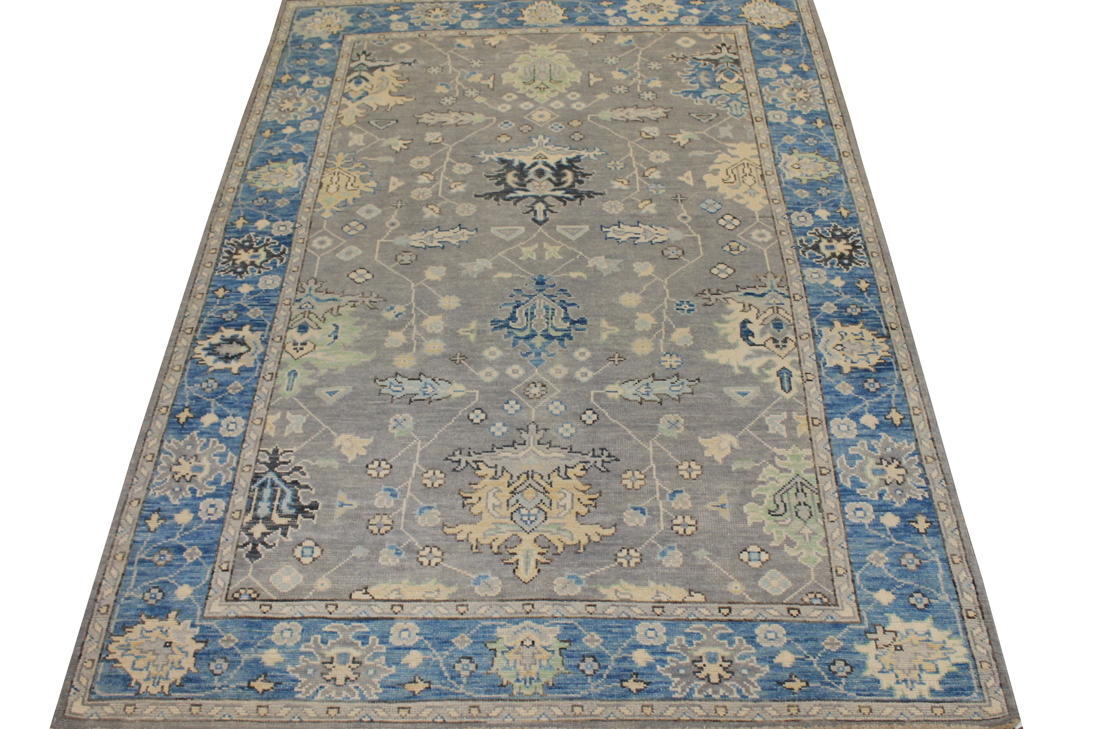 6x9 Oushak Hand Knotted Wool Area Rug - MR024413