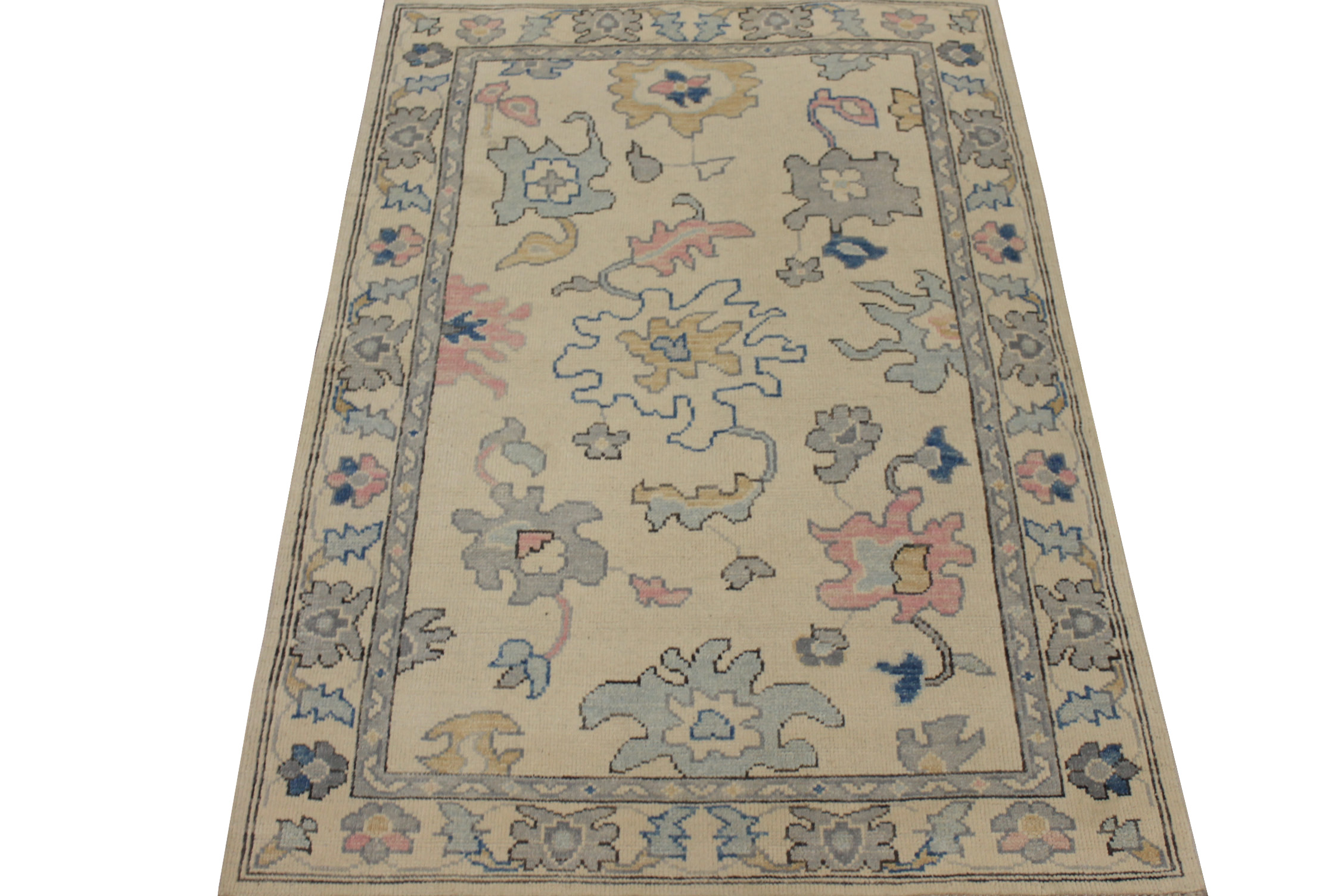 4x6 Oushak Hand Knotted Wool Area Rug - MR024415