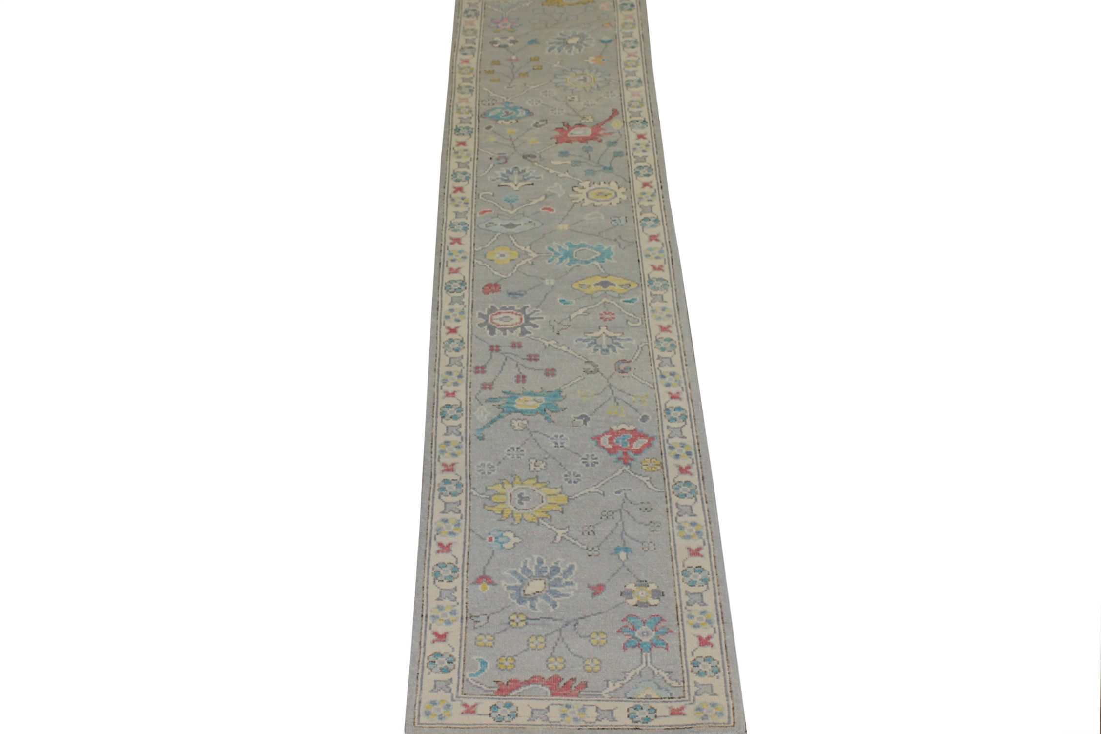 12 ft. Runner Oushak Hand Knotted Wool Area Rug - MR024424