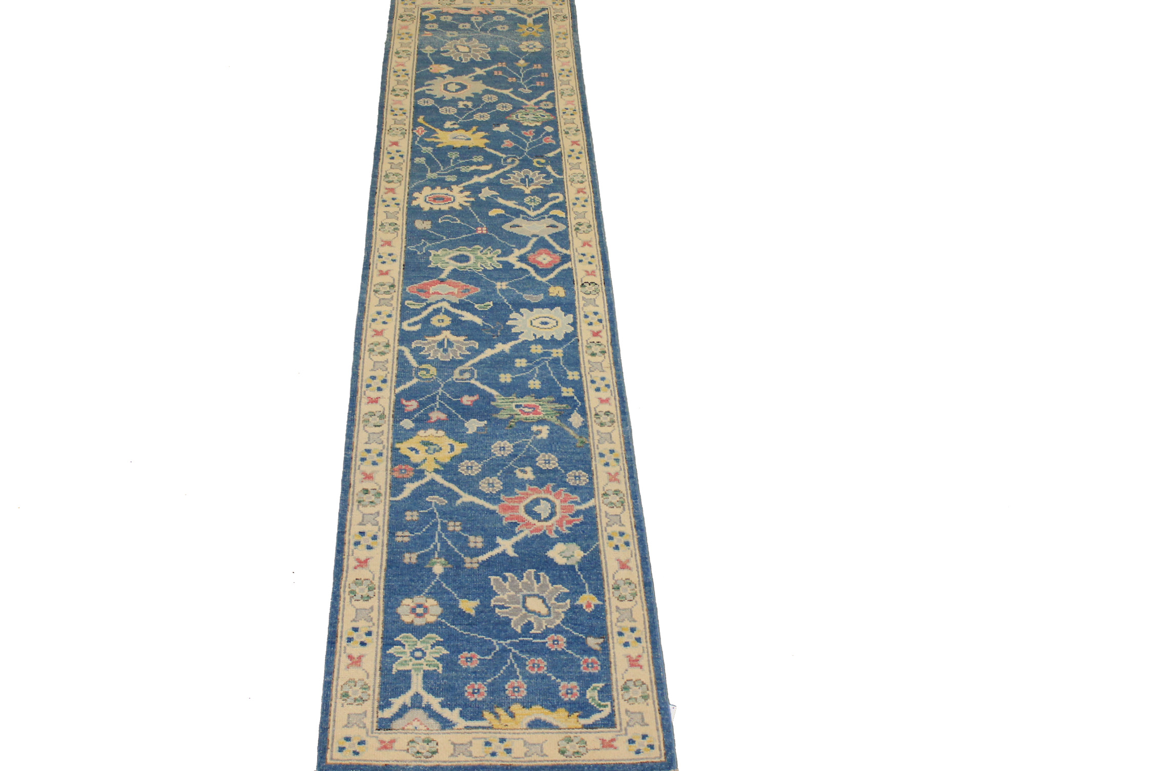 12 ft. Runner Oushak Hand Knotted Wool Area Rug - MR024425