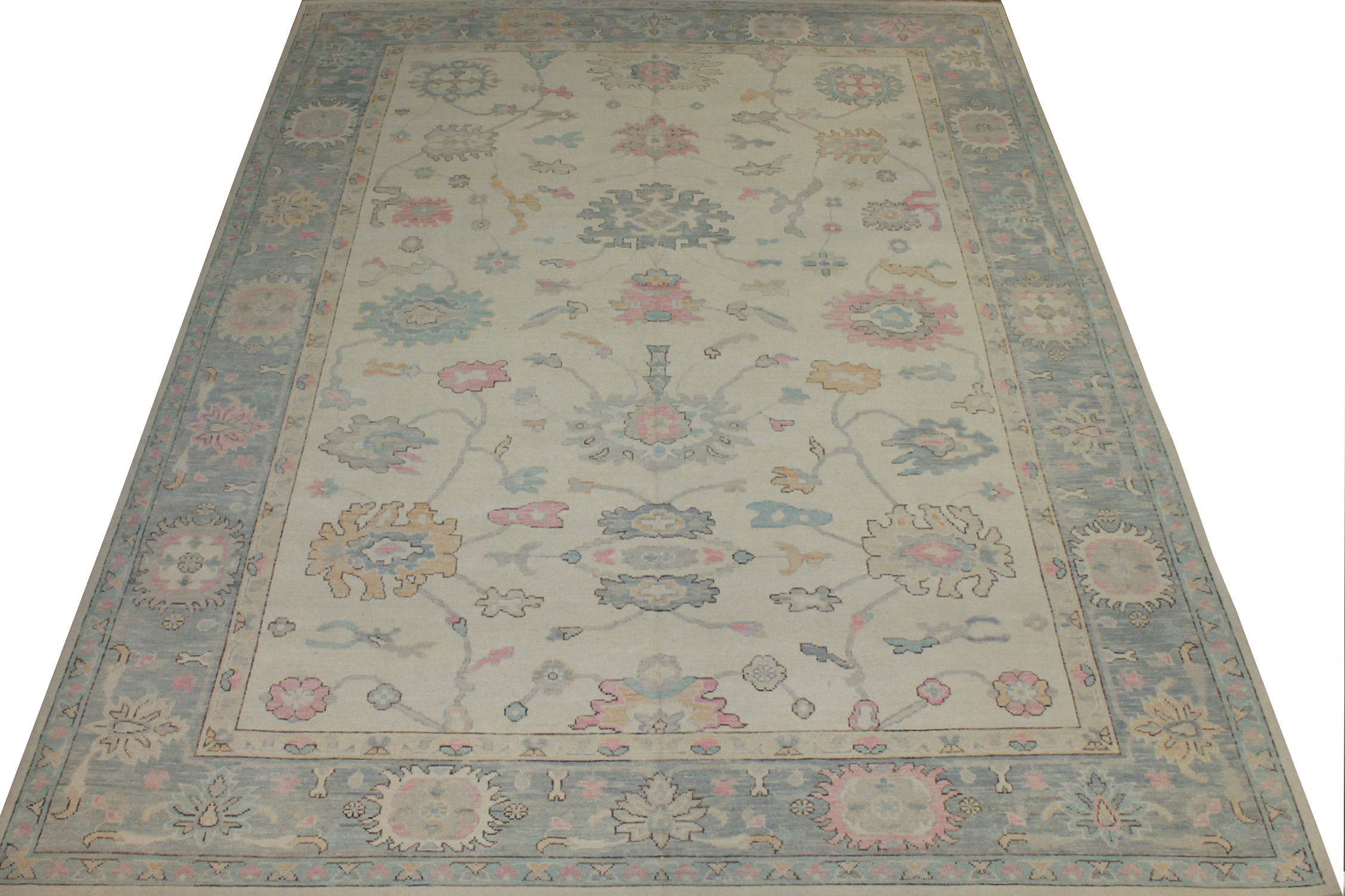 10x14 Oushak Hand Knotted Wool Area Rug - MR024427