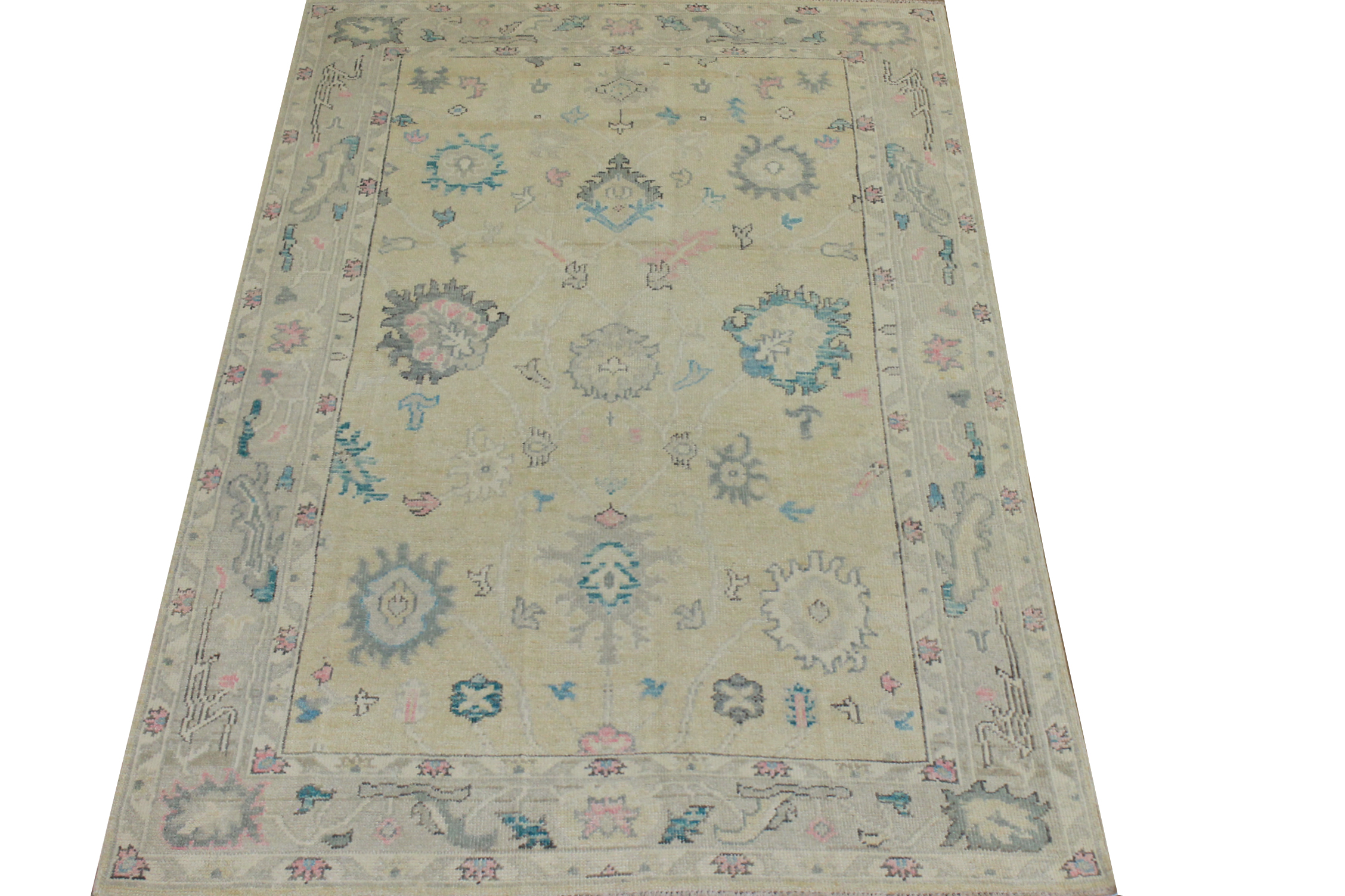 5x7/8 Oushak Hand Knotted Wool Area Rug - MR024428