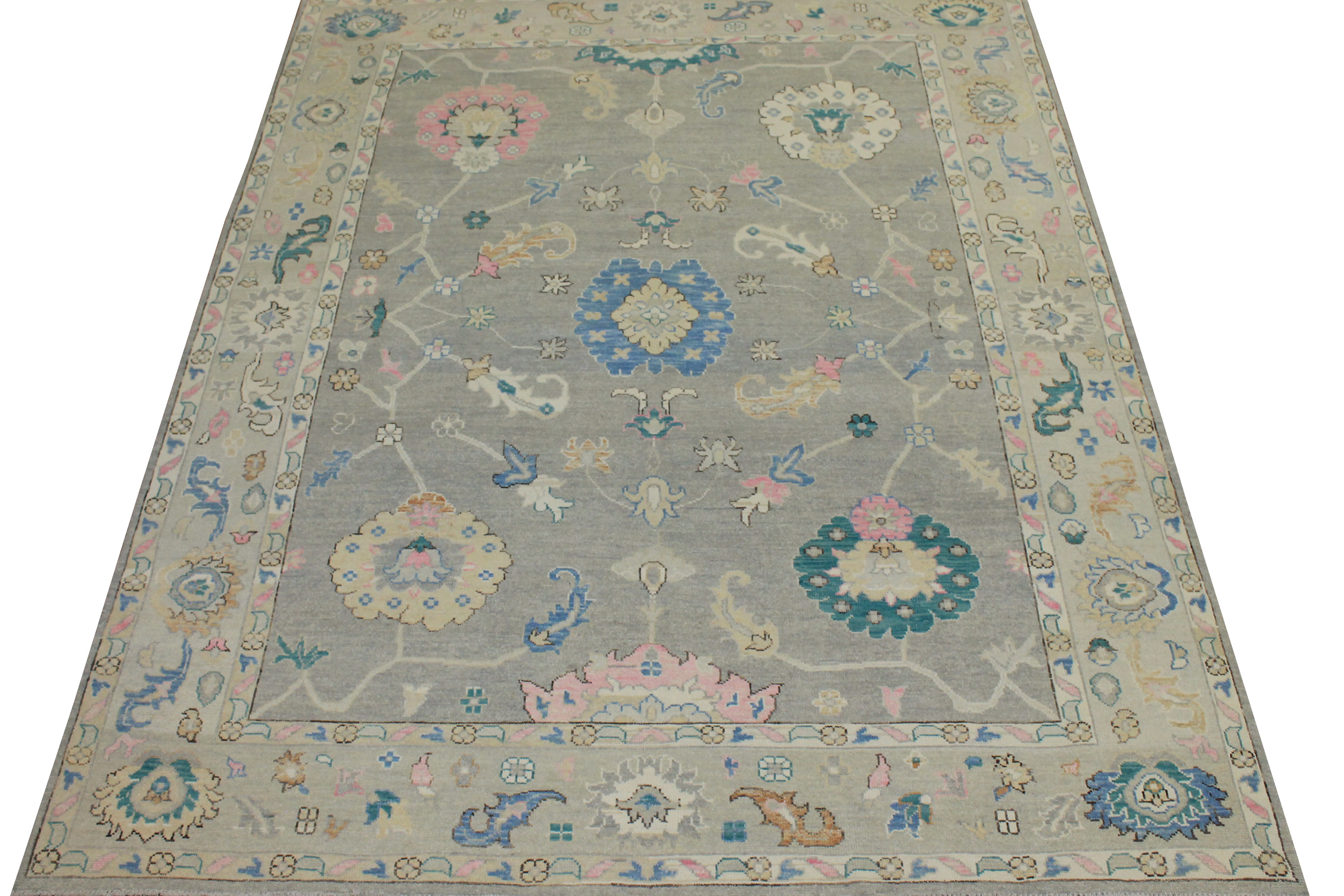 9x12 Oushak Hand Knotted Wool Area Rug - MR024429