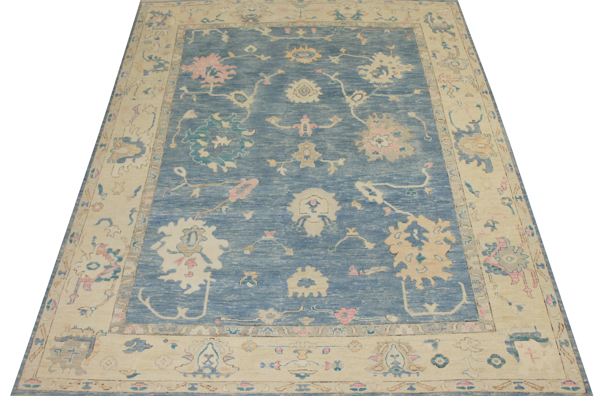 9x12 Oushak Hand Knotted Wool Area Rug - MR024431