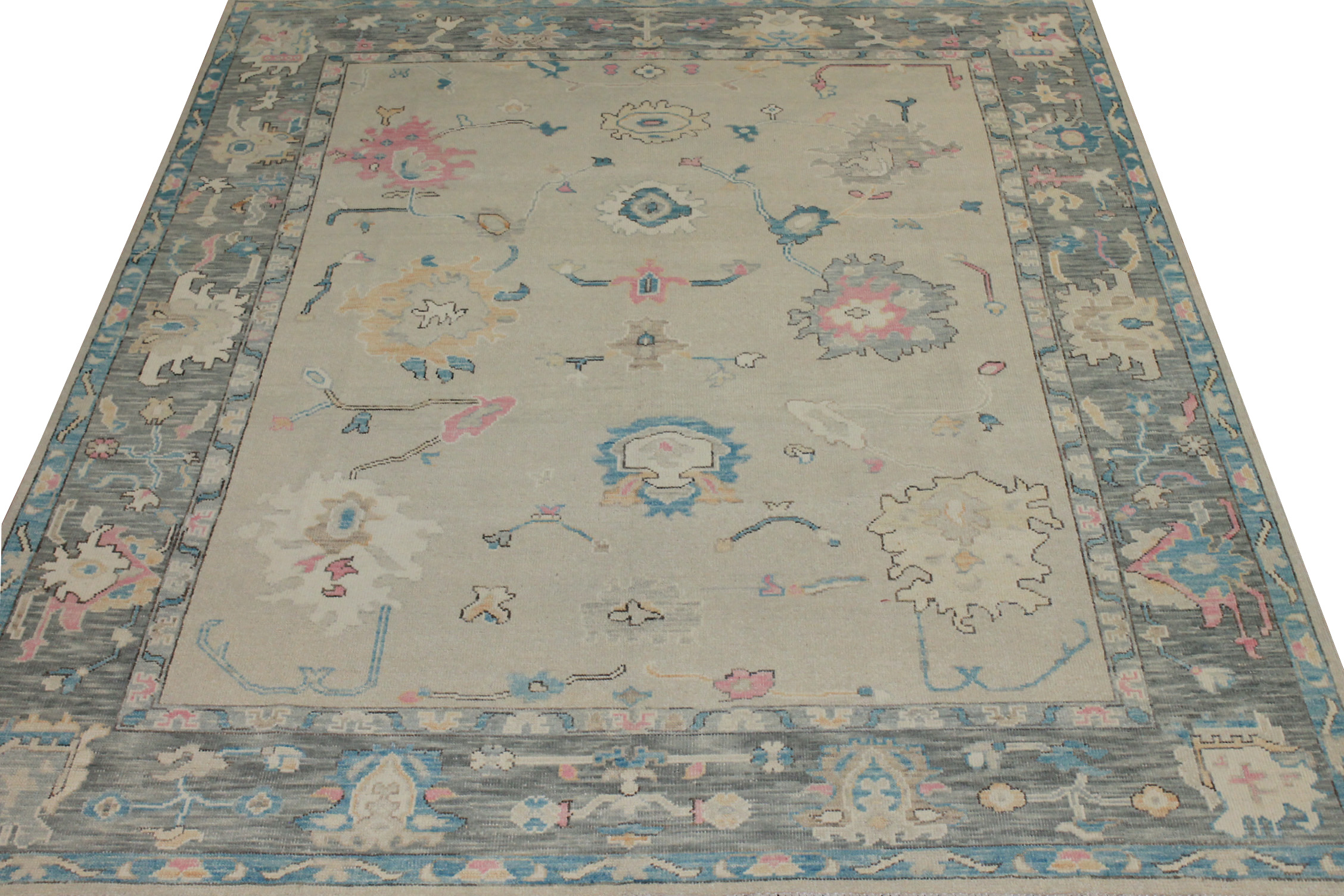 8x10 Oushak Hand Knotted Wool Area Rug - MR024434