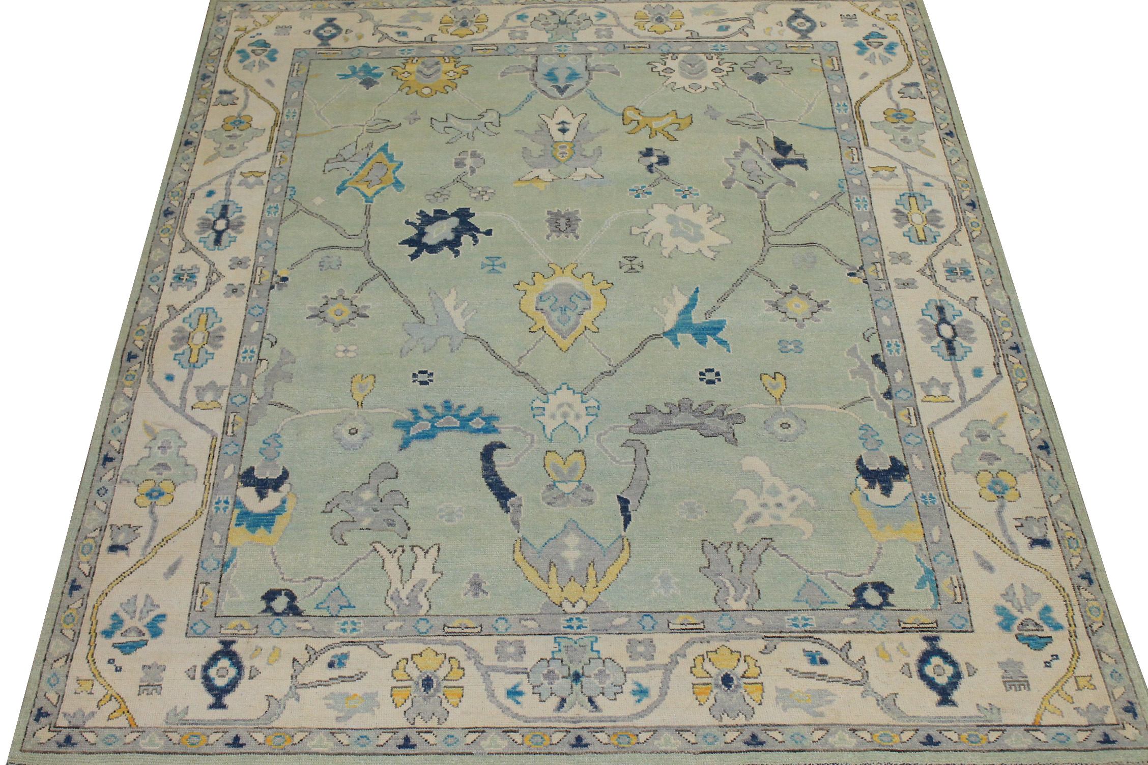 8x10 Oushak Hand Knotted Wool Area Rug - MR024436