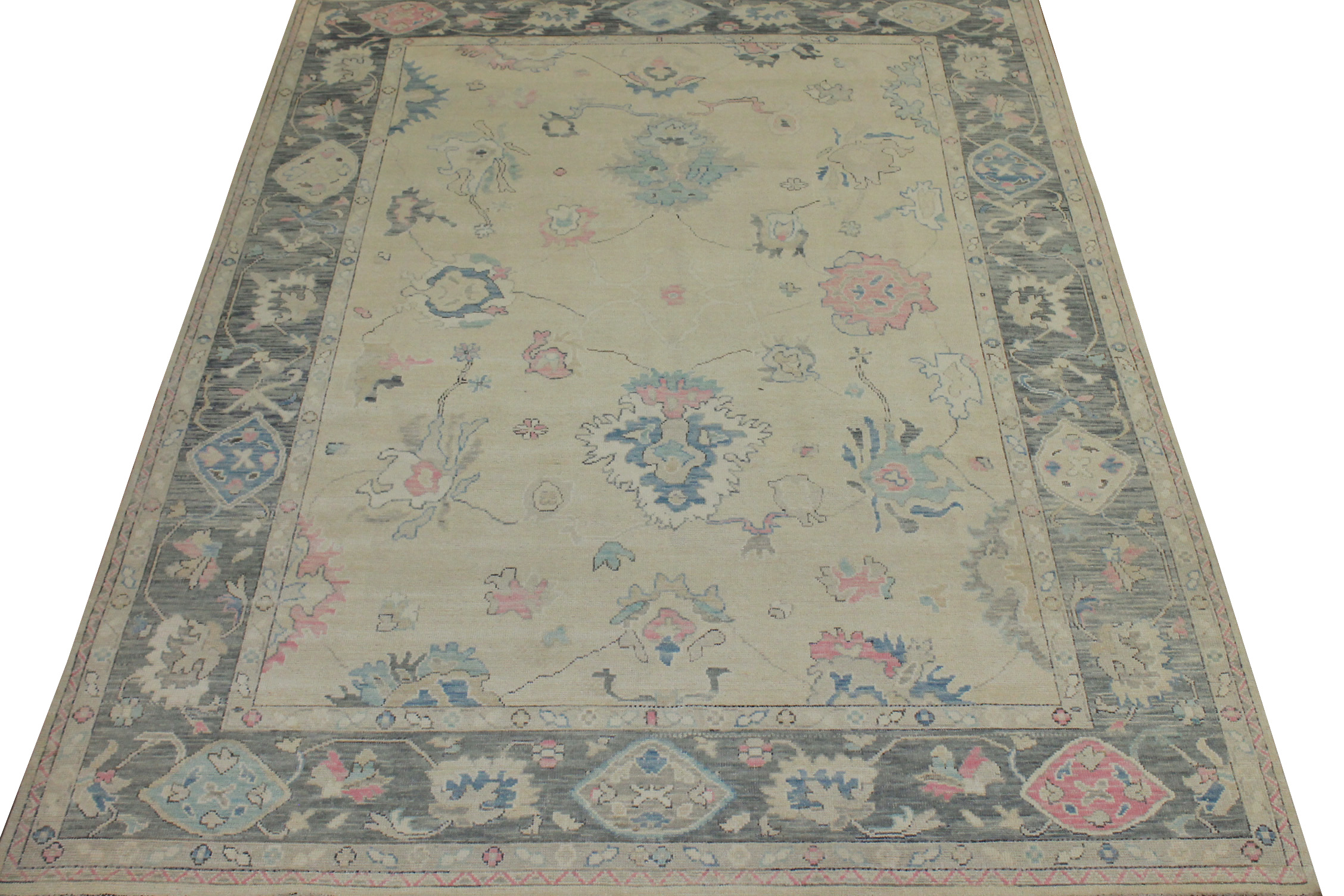 9x12 Oushak Hand Knotted Wool Area Rug - MR024437