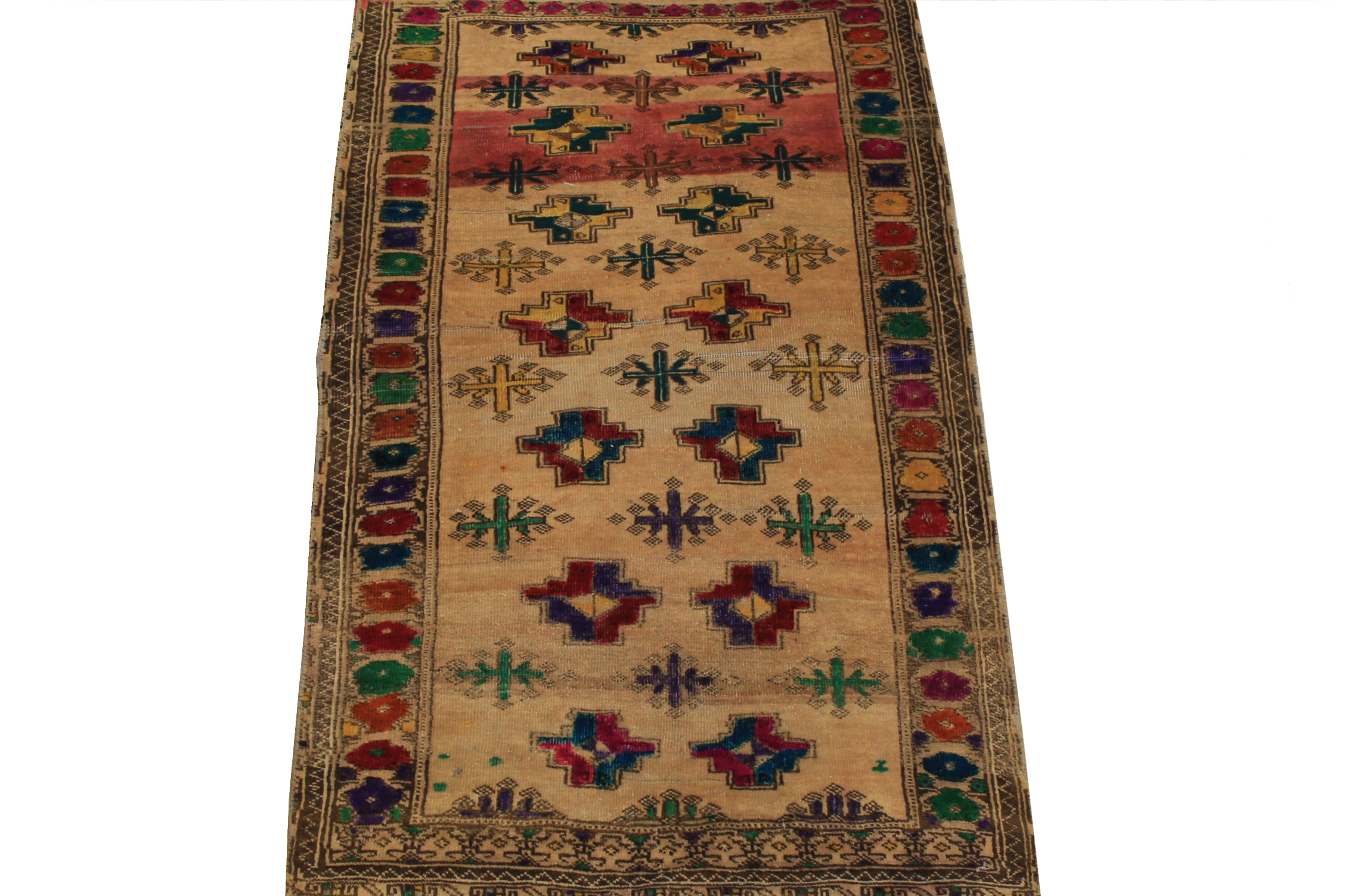2X4 Vintage Hand Knotted Wool Area Rug - MR024440