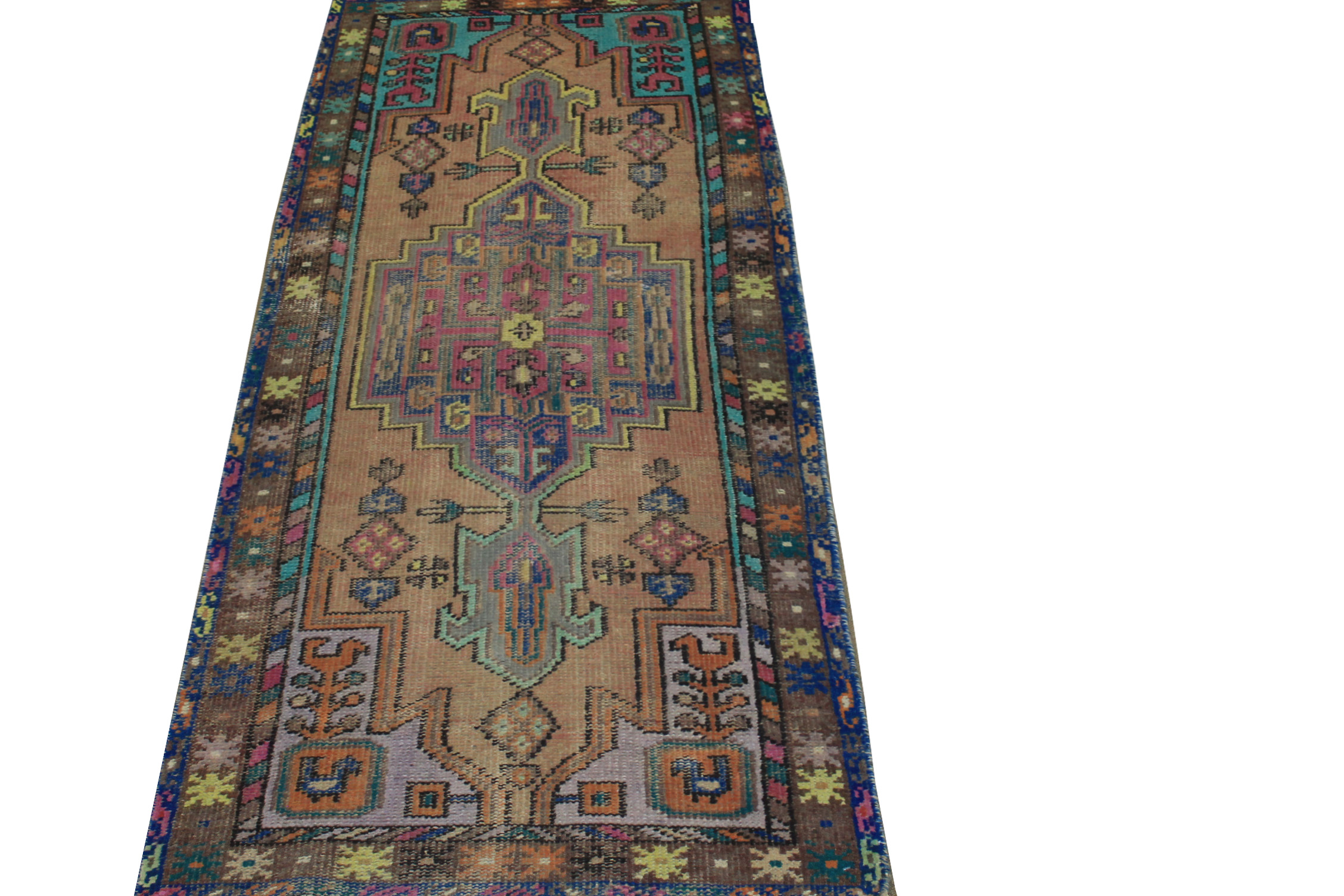 6 ft. Runner Vintage Hand Knotted Wool Area Rug - MR024443