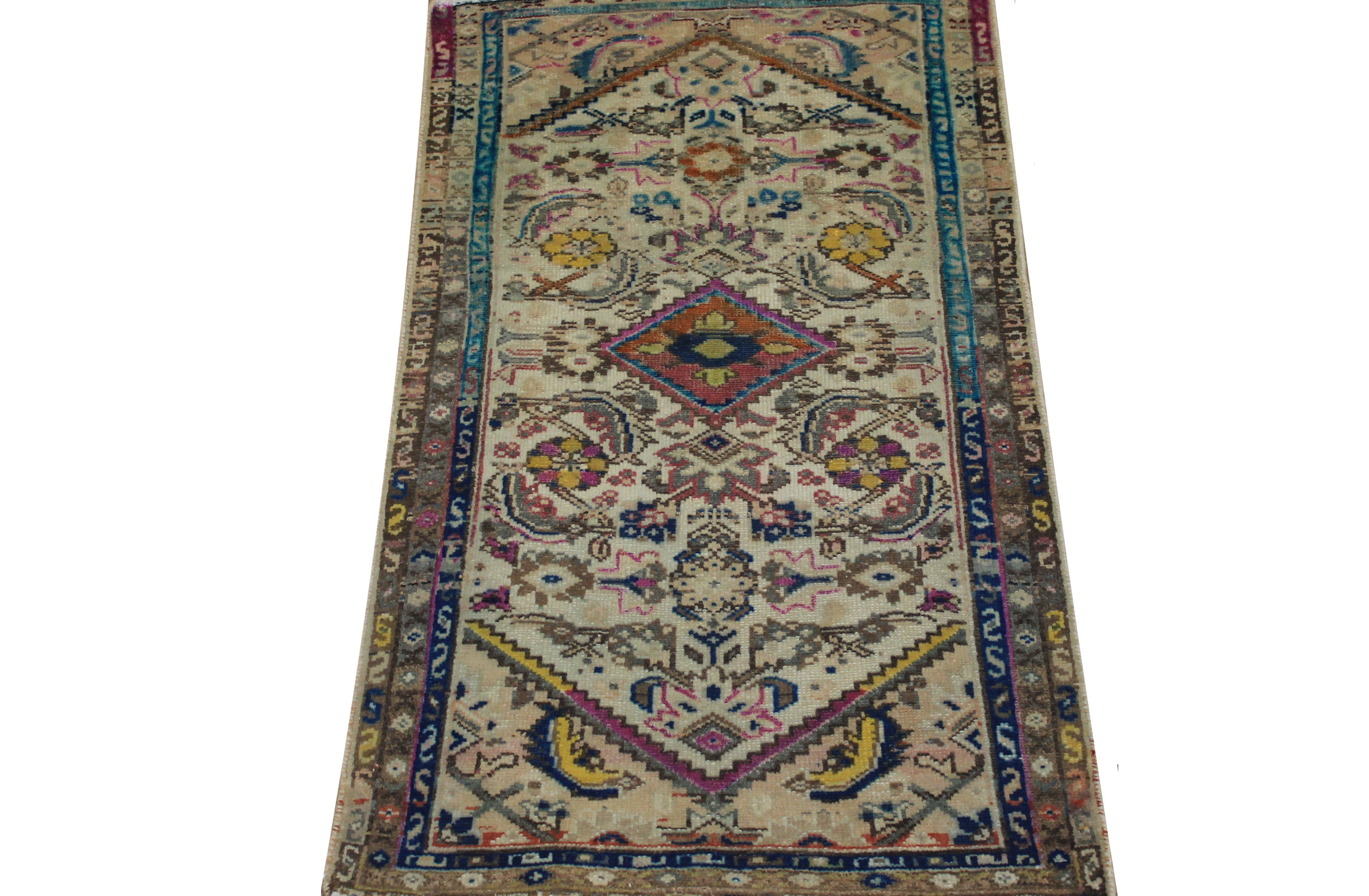 2X4 Vintage Hand Knotted Wool Area Rug - MR024445