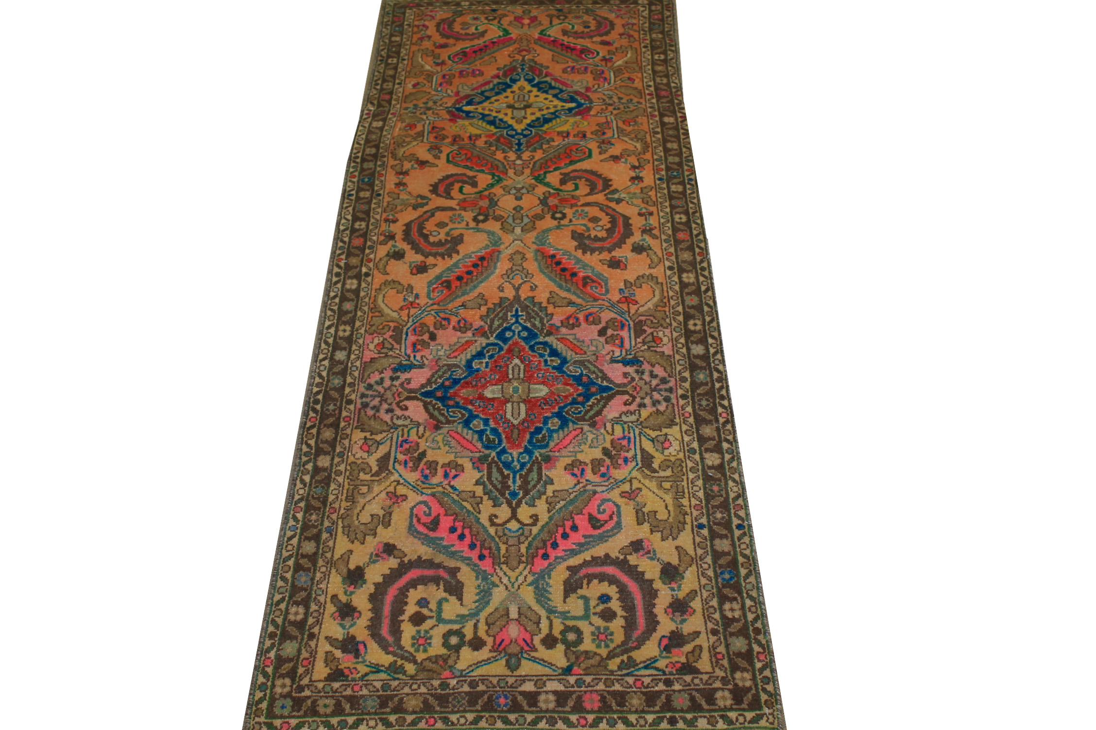 6 ft. Runner Vintage Hand Knotted Wool Area Rug - MR024446