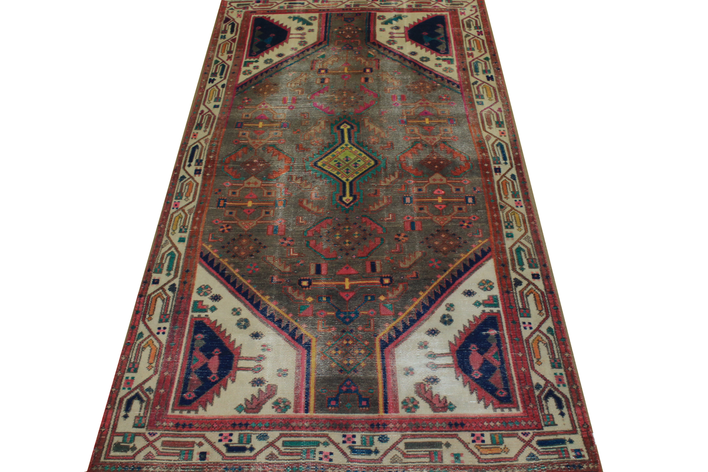 4x6 Vintage Hand Knotted Wool Area Rug - MR024450