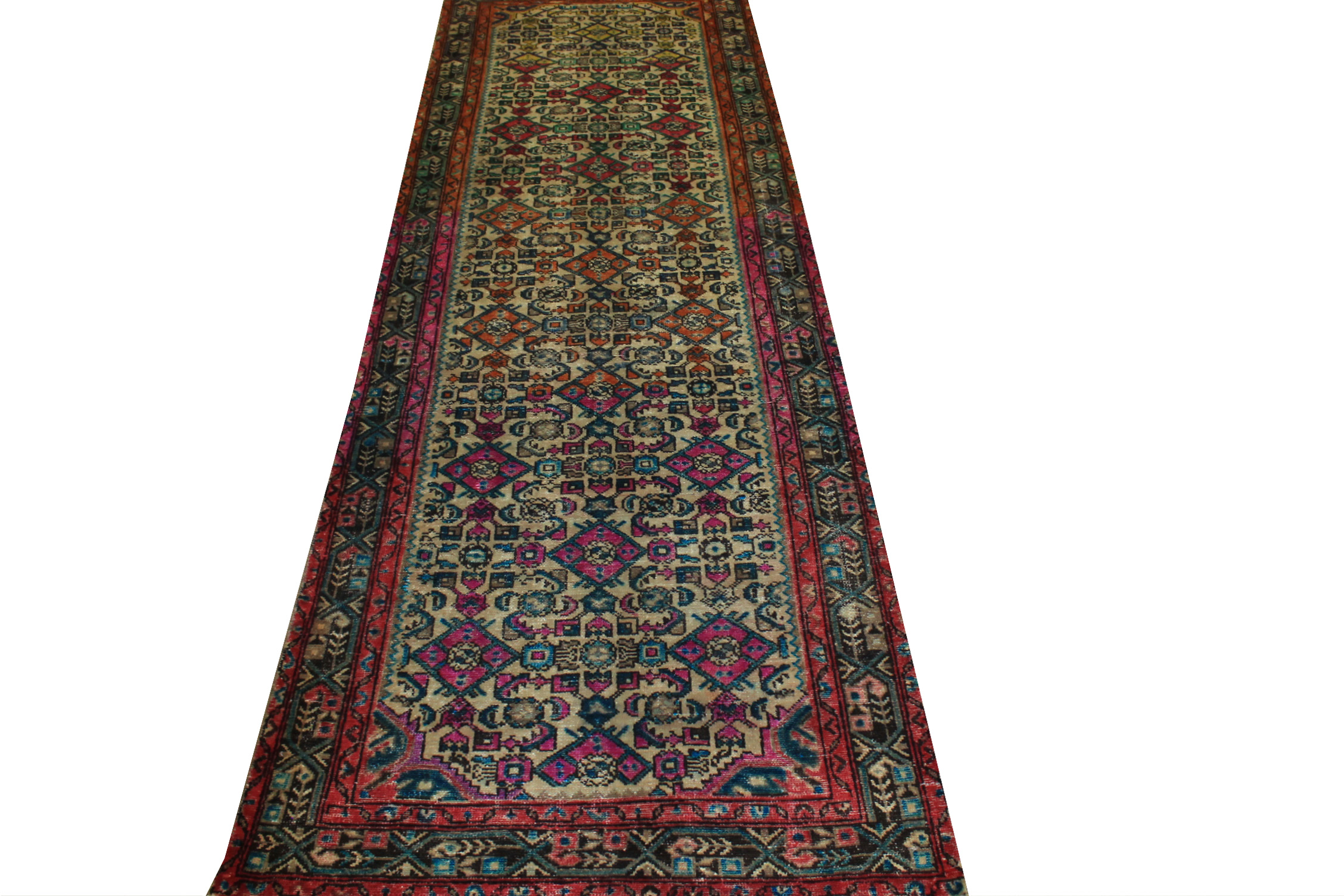 10 ft. Runner Vintage Hand Knotted Wool Area Rug - MR024452