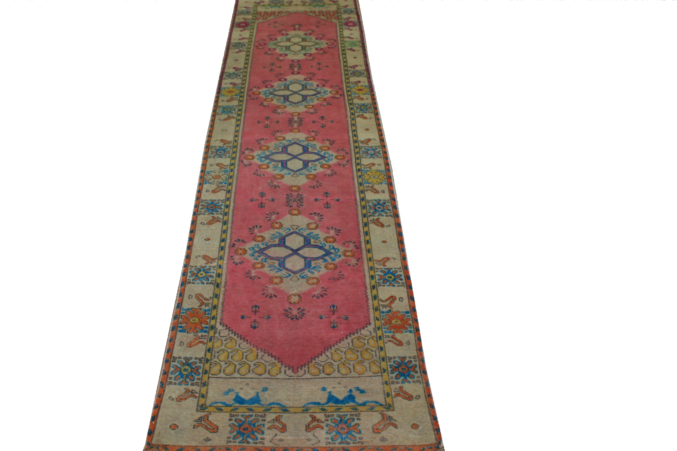10 ft. Runner Vintage Hand Knotted Wool Area Rug - MR024455