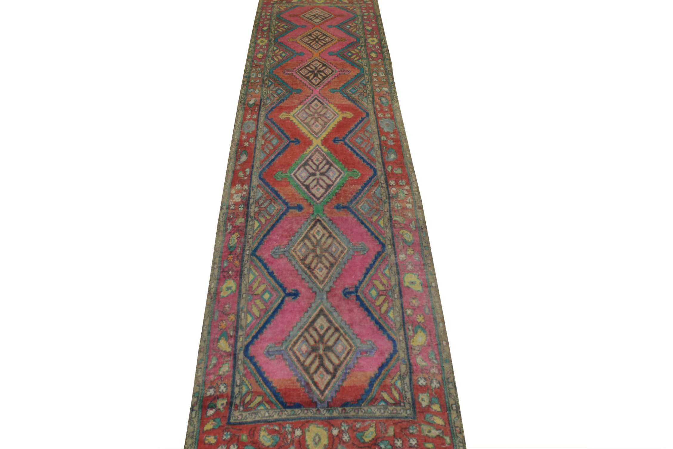 10 ft. Runner Vintage Hand Knotted Wool Area Rug - MR024456