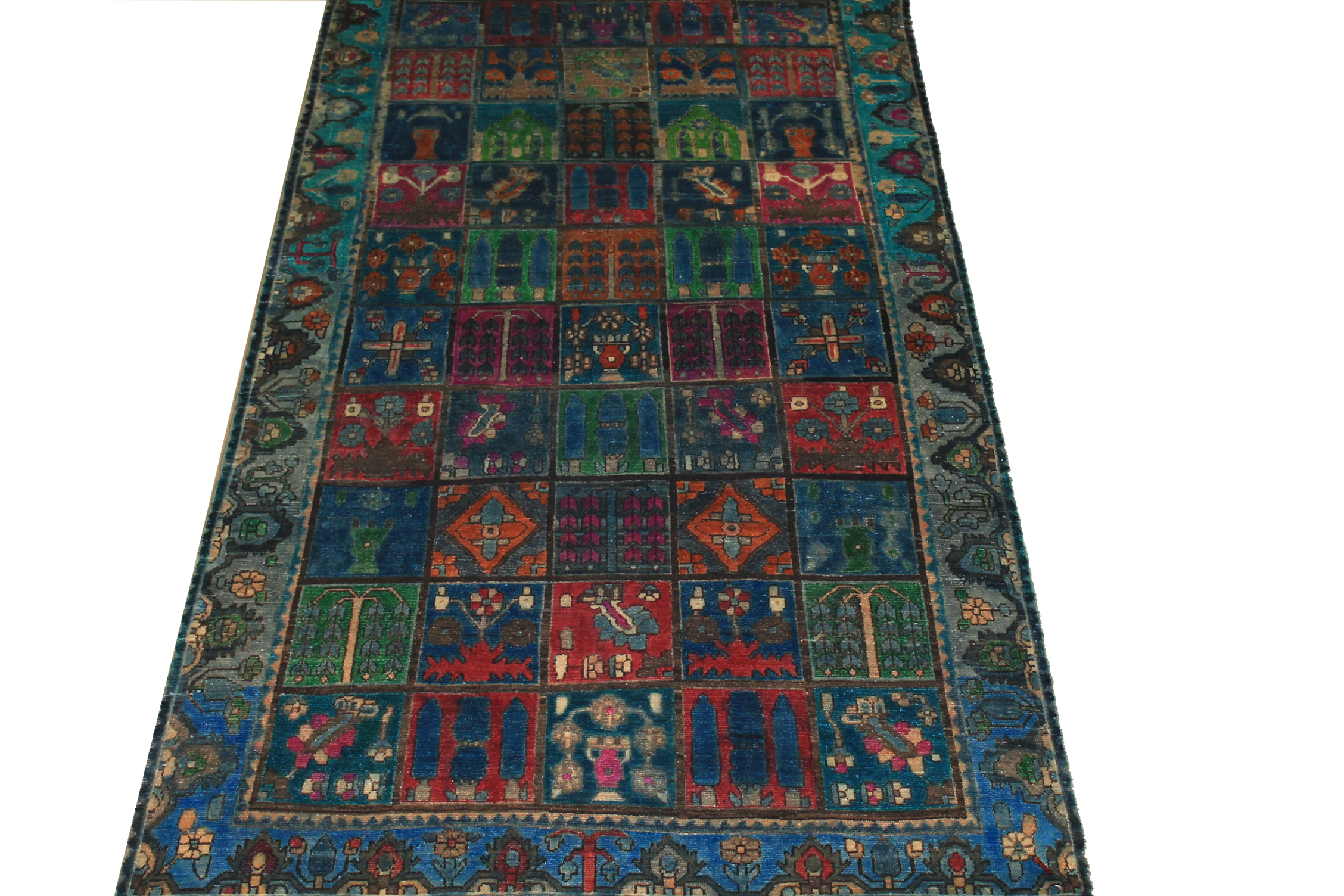 5x7/8 Vintage Hand Knotted Wool Area Rug - MR024467